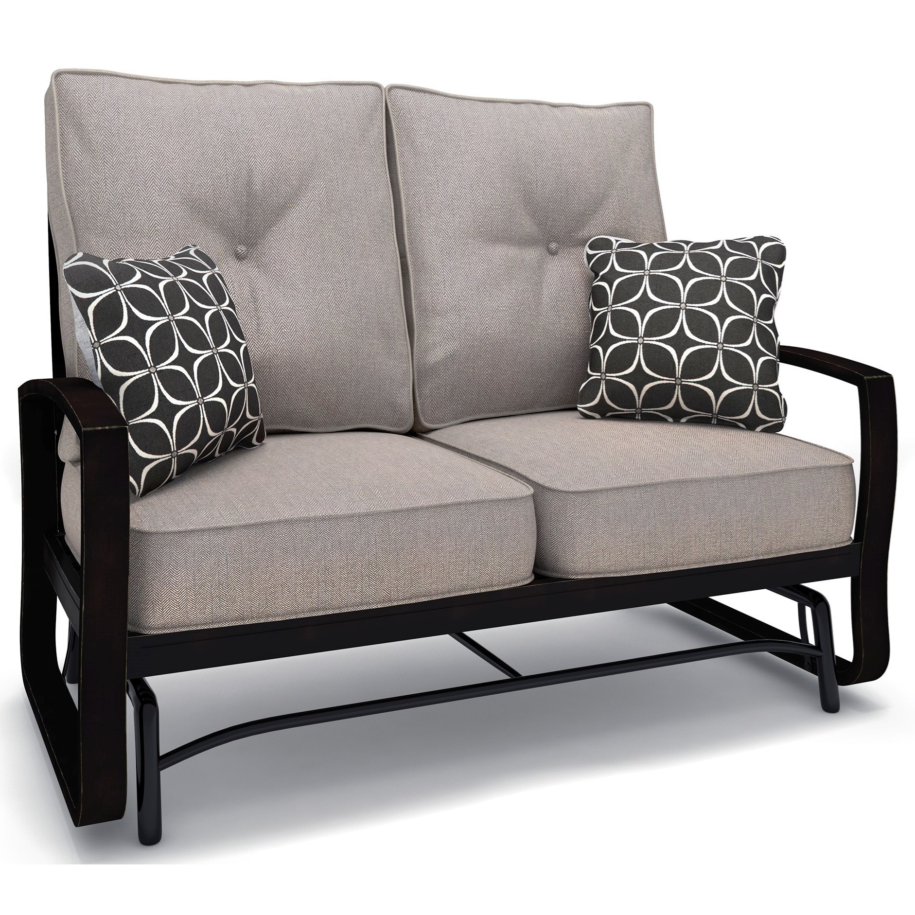 Signature Design By Ashley Castle Island Loveseat Glider With Cushion Wayside Furniture