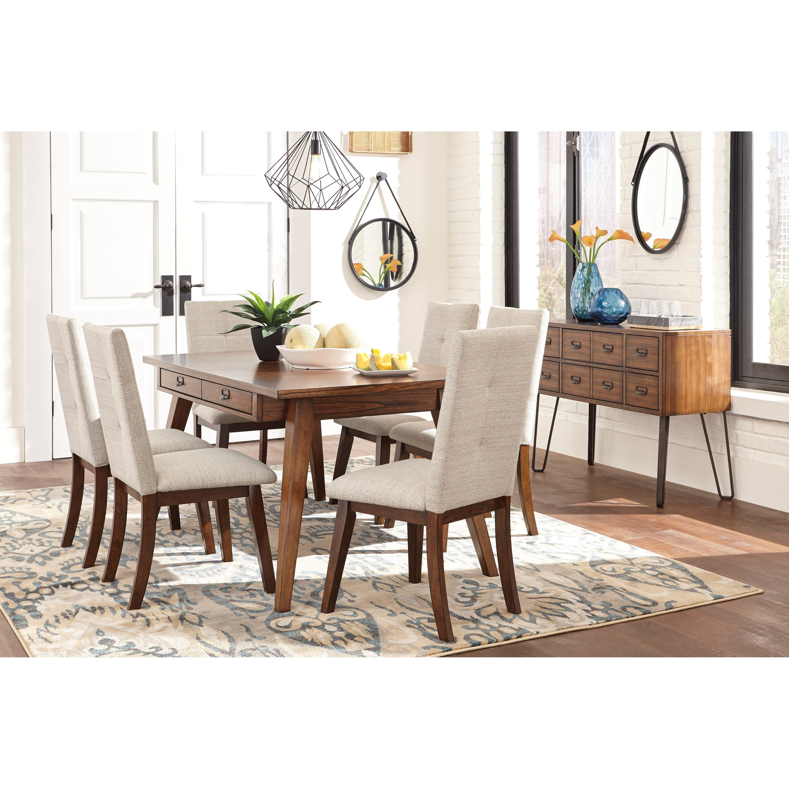 Signature Design By Ashley Centiar Casual Dining Room For Group