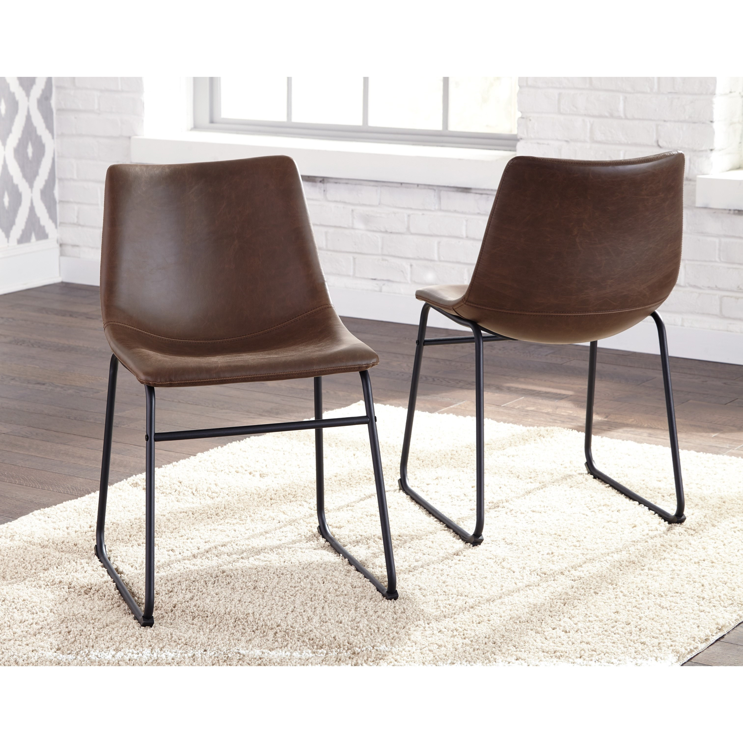 Ashley signature design centiar d372 01 contemporary for Bucket dining room chairs