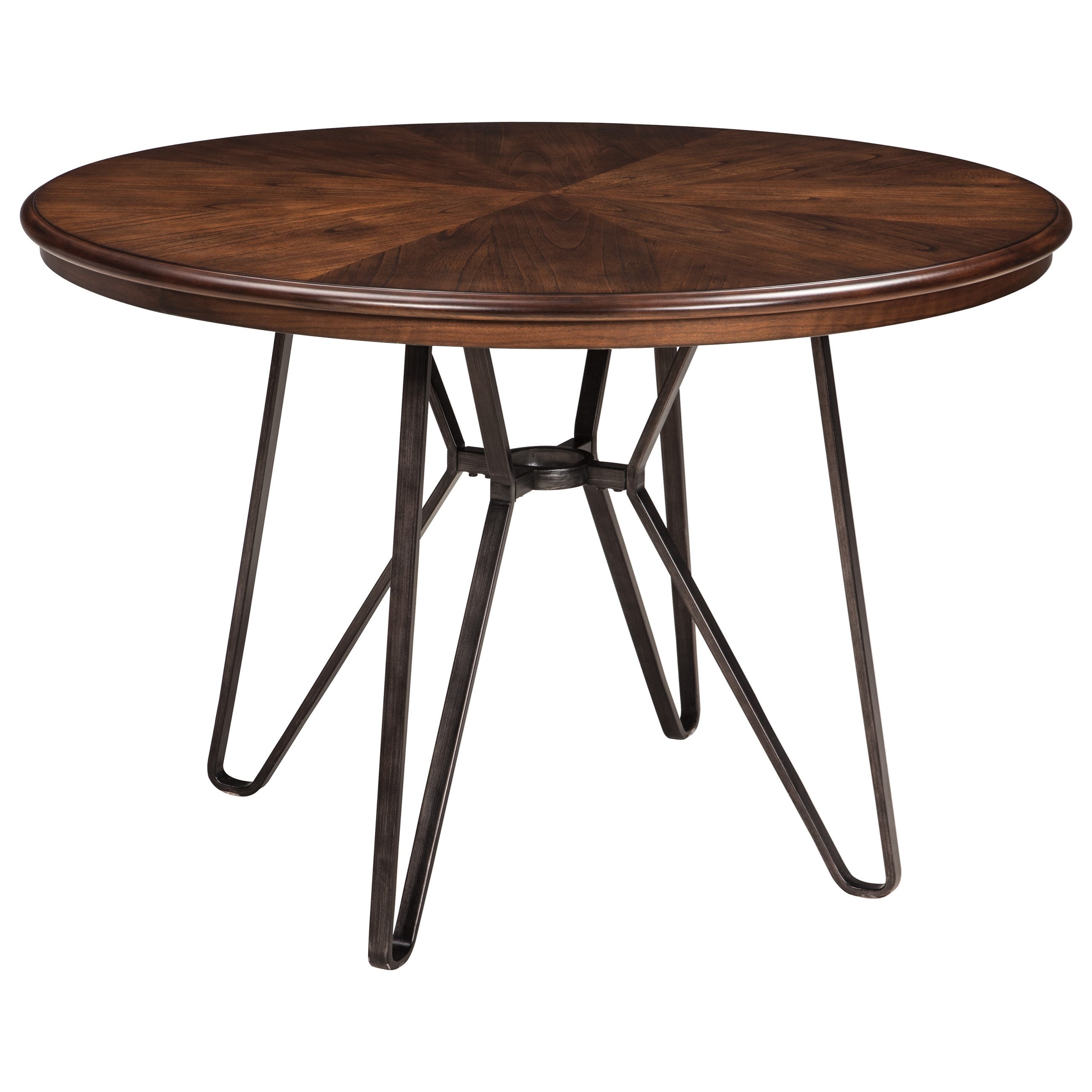 Signature design by ashley centiar 5 piece round dining for Dining table with settee