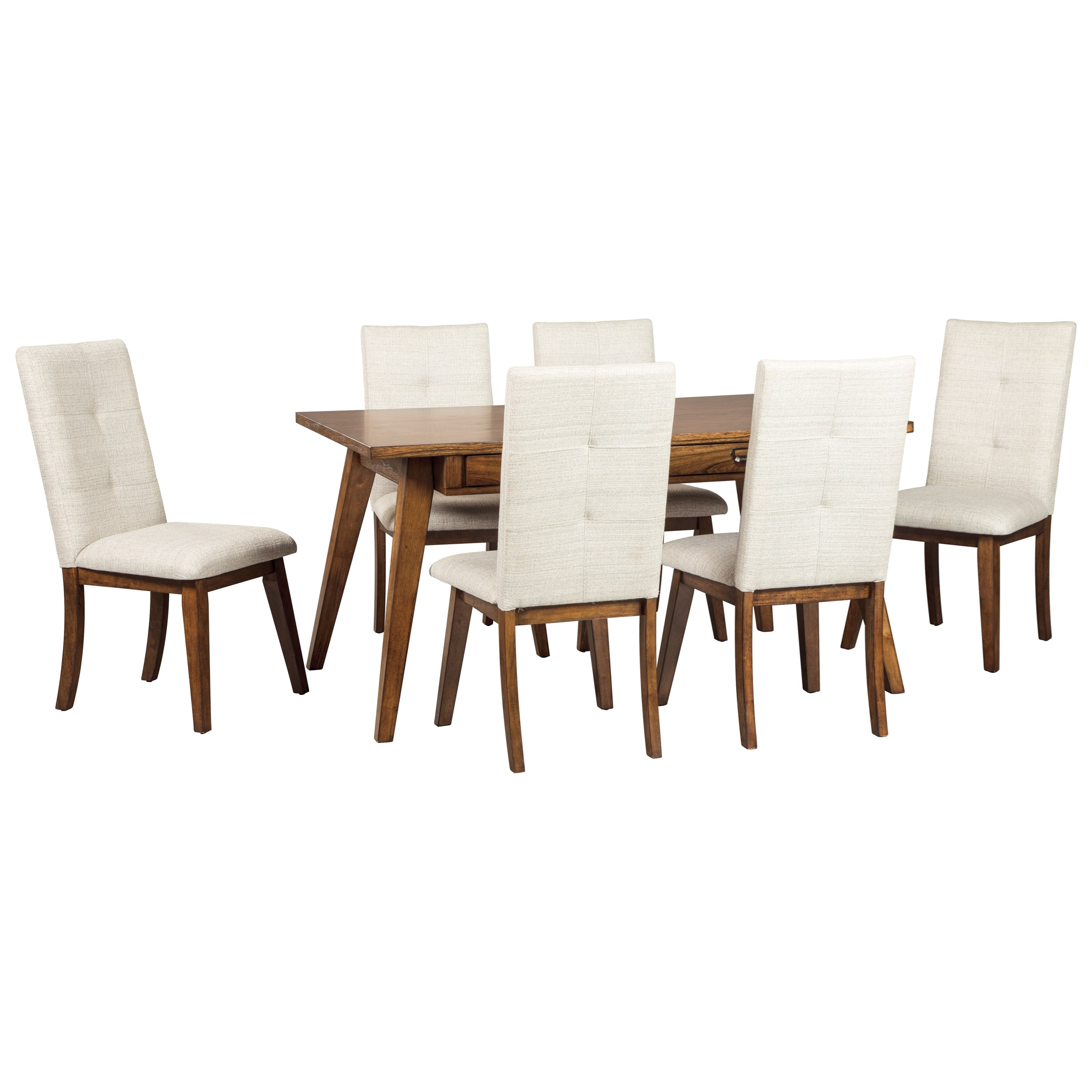 Signature design by ashley centiar 7 piece rectangular for Fine dining room sets
