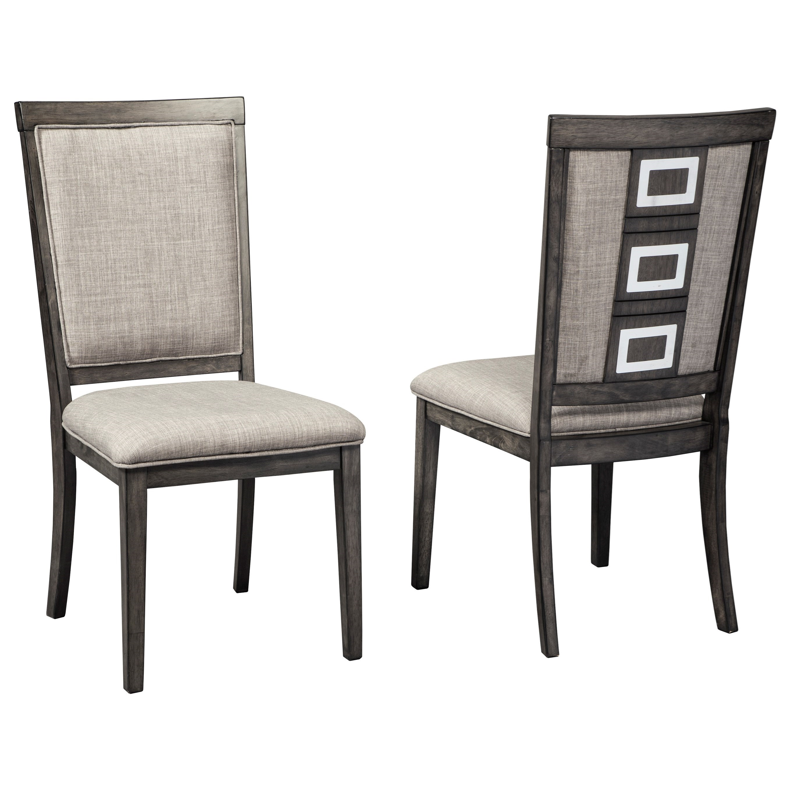 signature design by ashley chadoni d624 01 contemporary upholstered side chair with metal. Black Bedroom Furniture Sets. Home Design Ideas