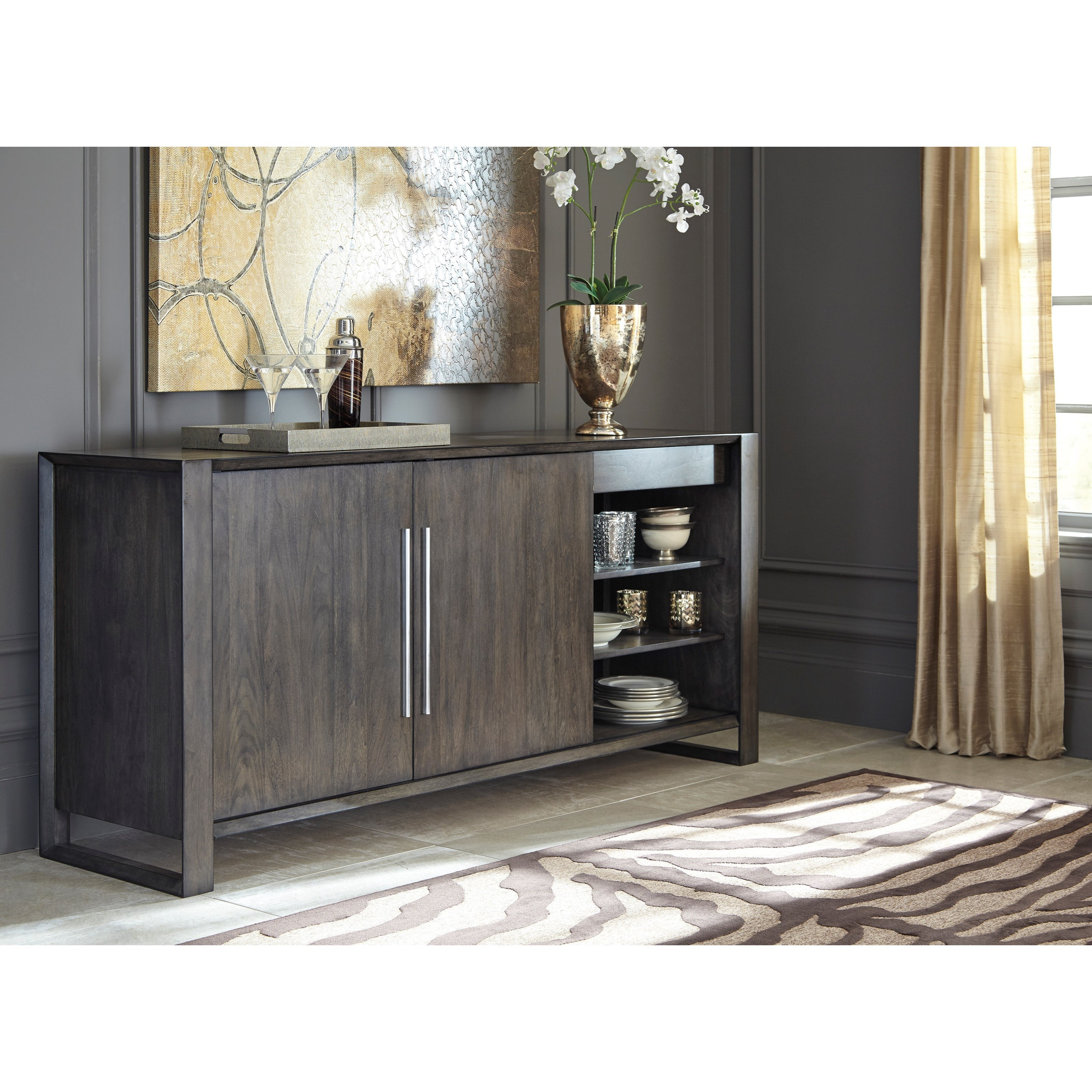 Signature design by ashley chadoni d624 60 contemporary for Wine and design west ashley