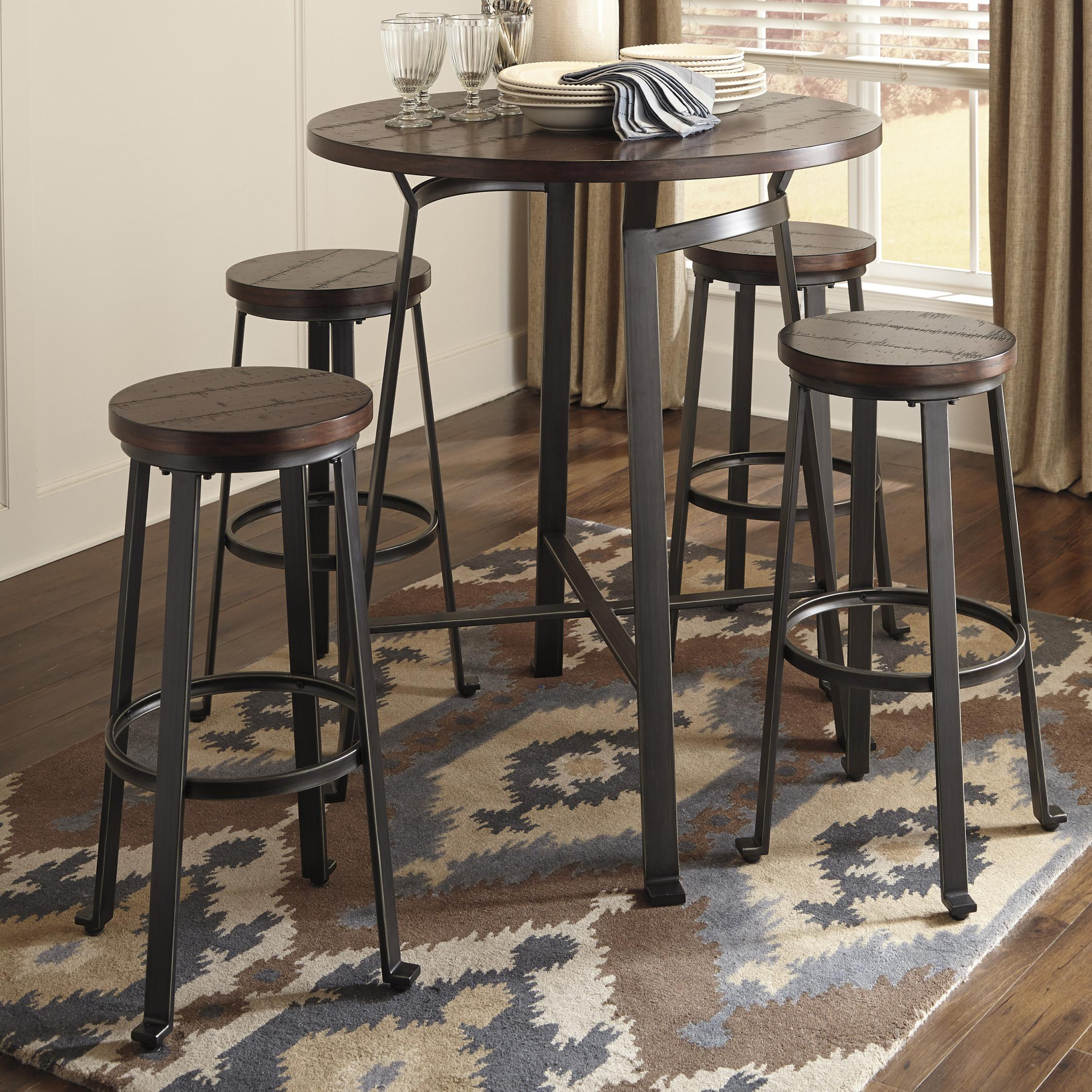 round bar table set dunk bright furniture pub table and stool