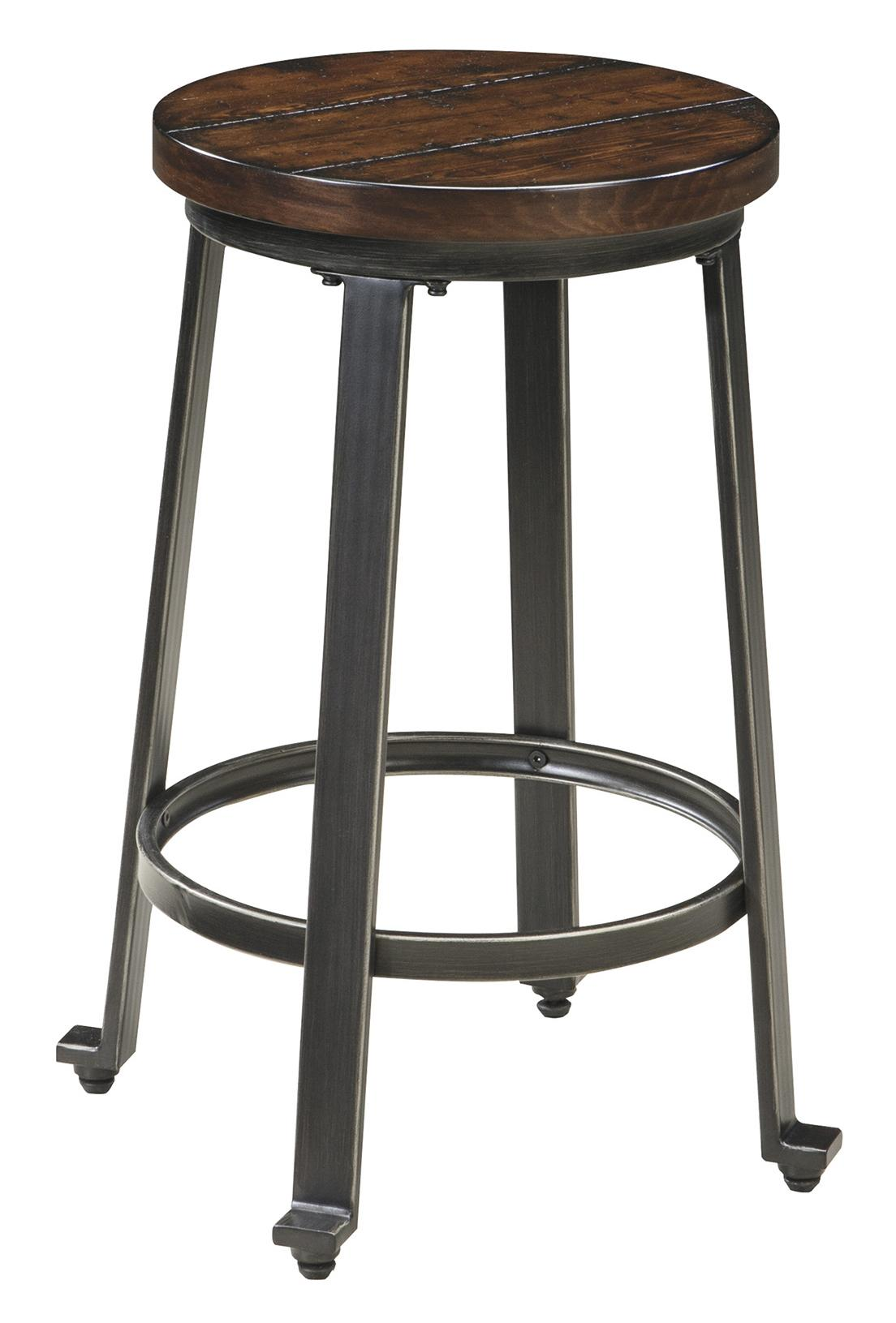 Signature Design By Ashley Challiman Industrial Style Armless Stool Royal Furniture Bar Stool