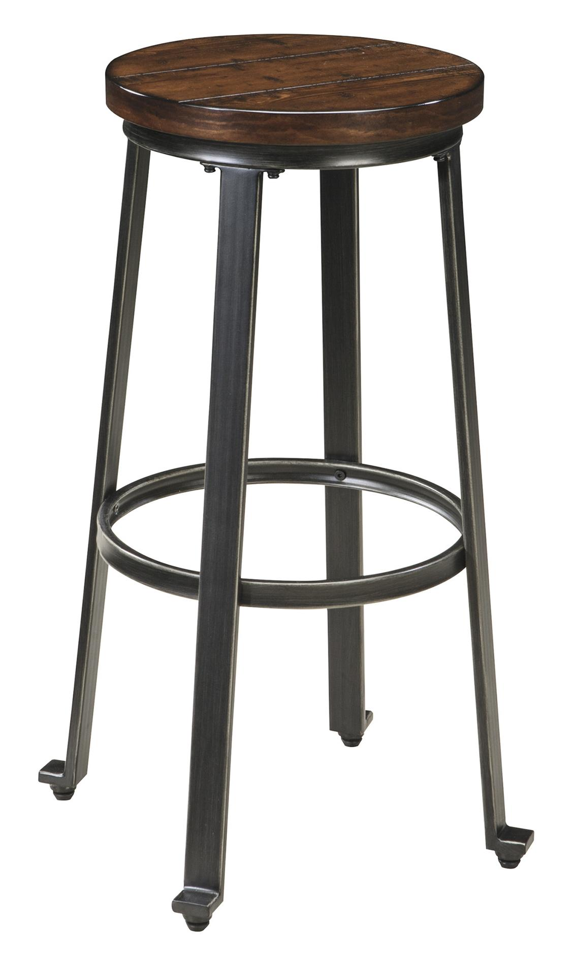 signature design by ashley challiman industrial style armless tall stool michael 39 s furniture. Black Bedroom Furniture Sets. Home Design Ideas