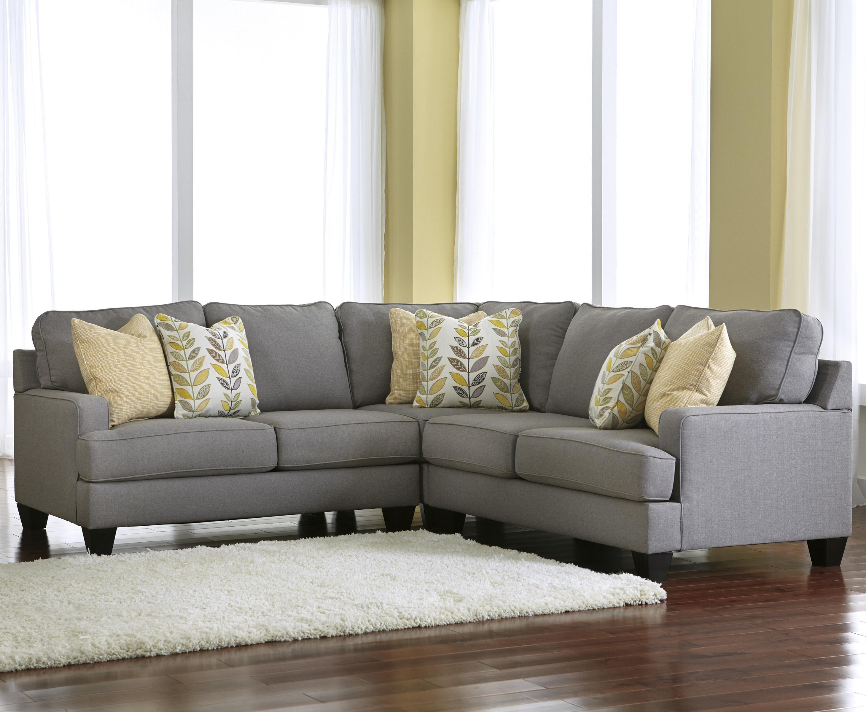 Signature design by ashley chamberly alloy modern 3 for 77 sectional sofa