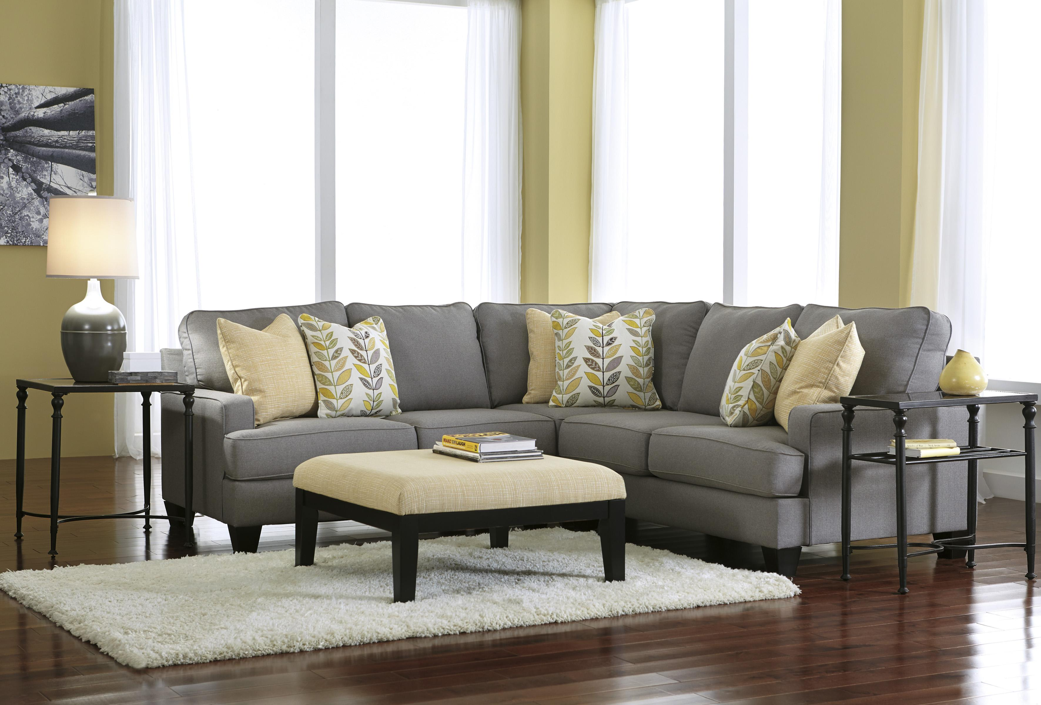 Signature Design By Ashley Chamberly Alloy Modern 3 Piece Corner Sectional Sofa With
