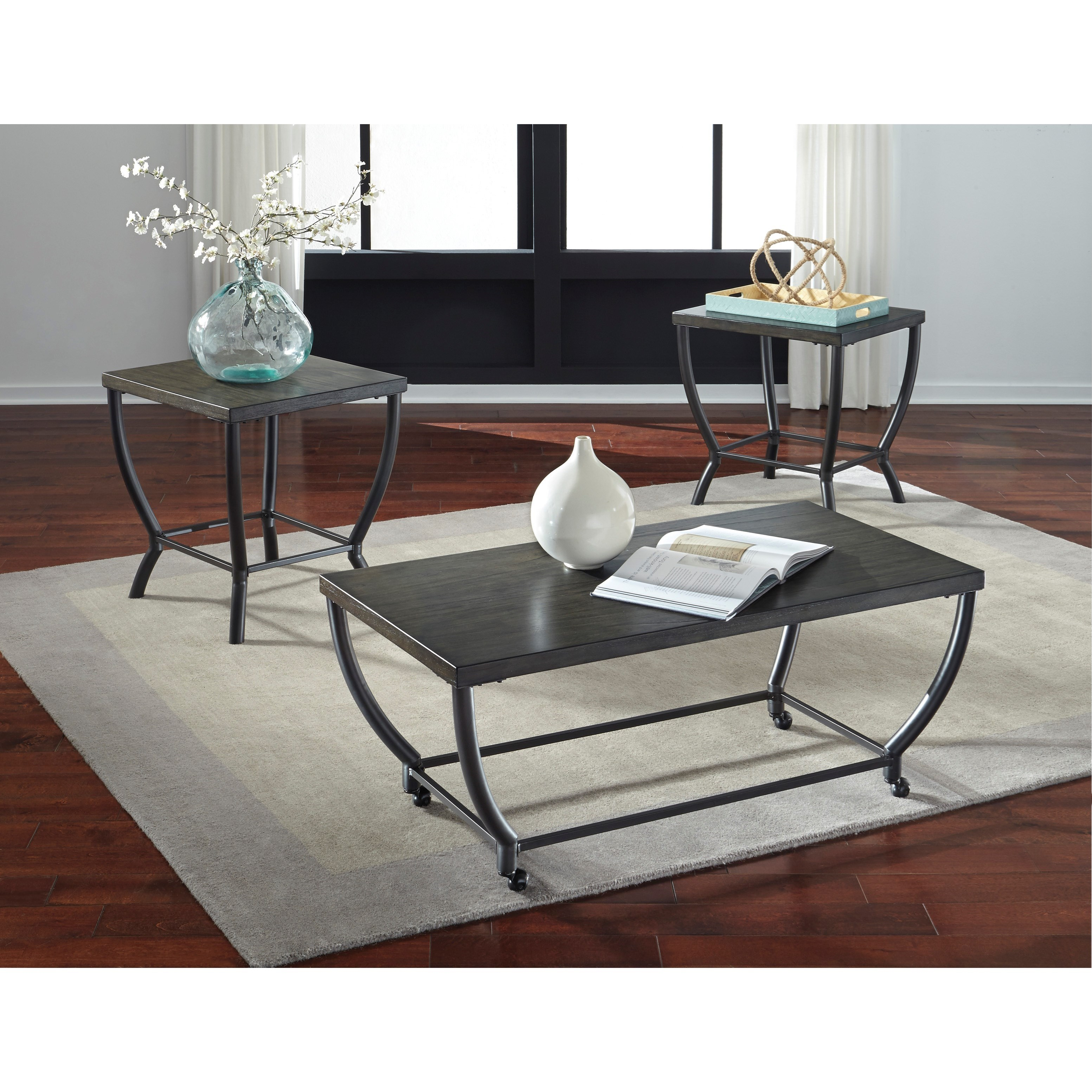 Signature Design By Ashley Champori T048 13 Contemporary Occasional Table Set Becker Furniture