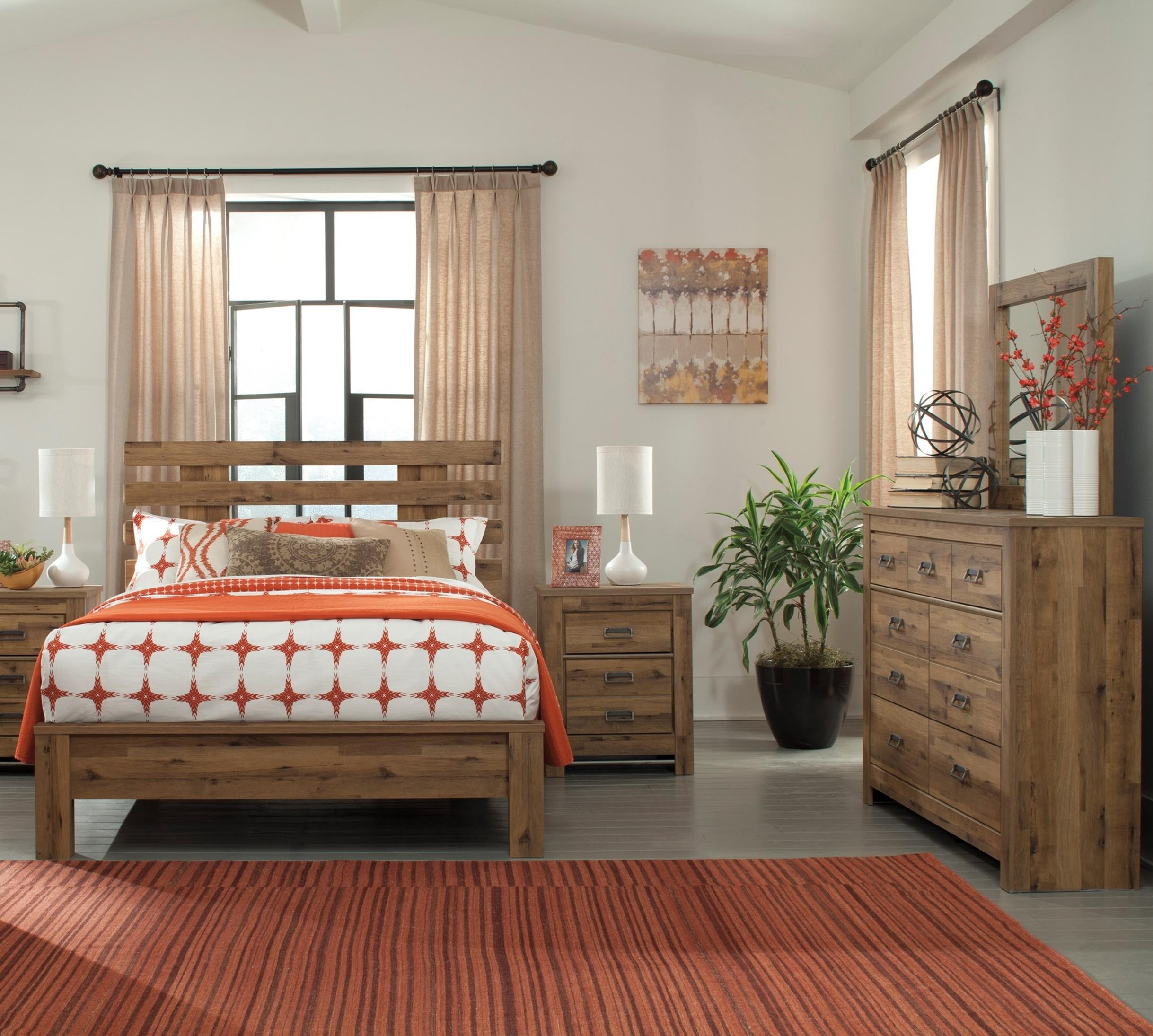 ashley signature design cinrey queen bedroom group dunk bright furniture bedroom groups. Black Bedroom Furniture Sets. Home Design Ideas