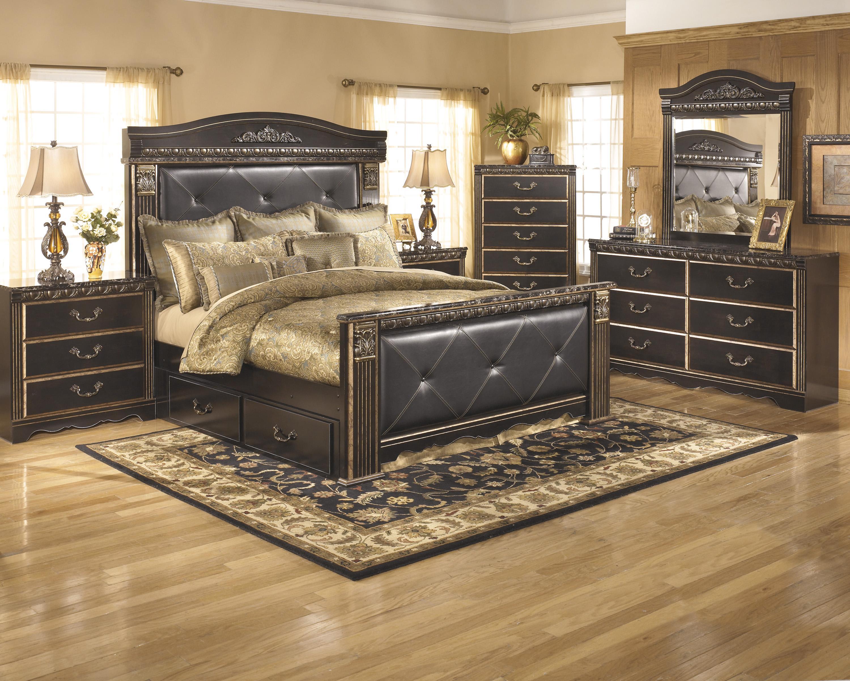 coal creek king bedroom group del sol furniture bedroom group