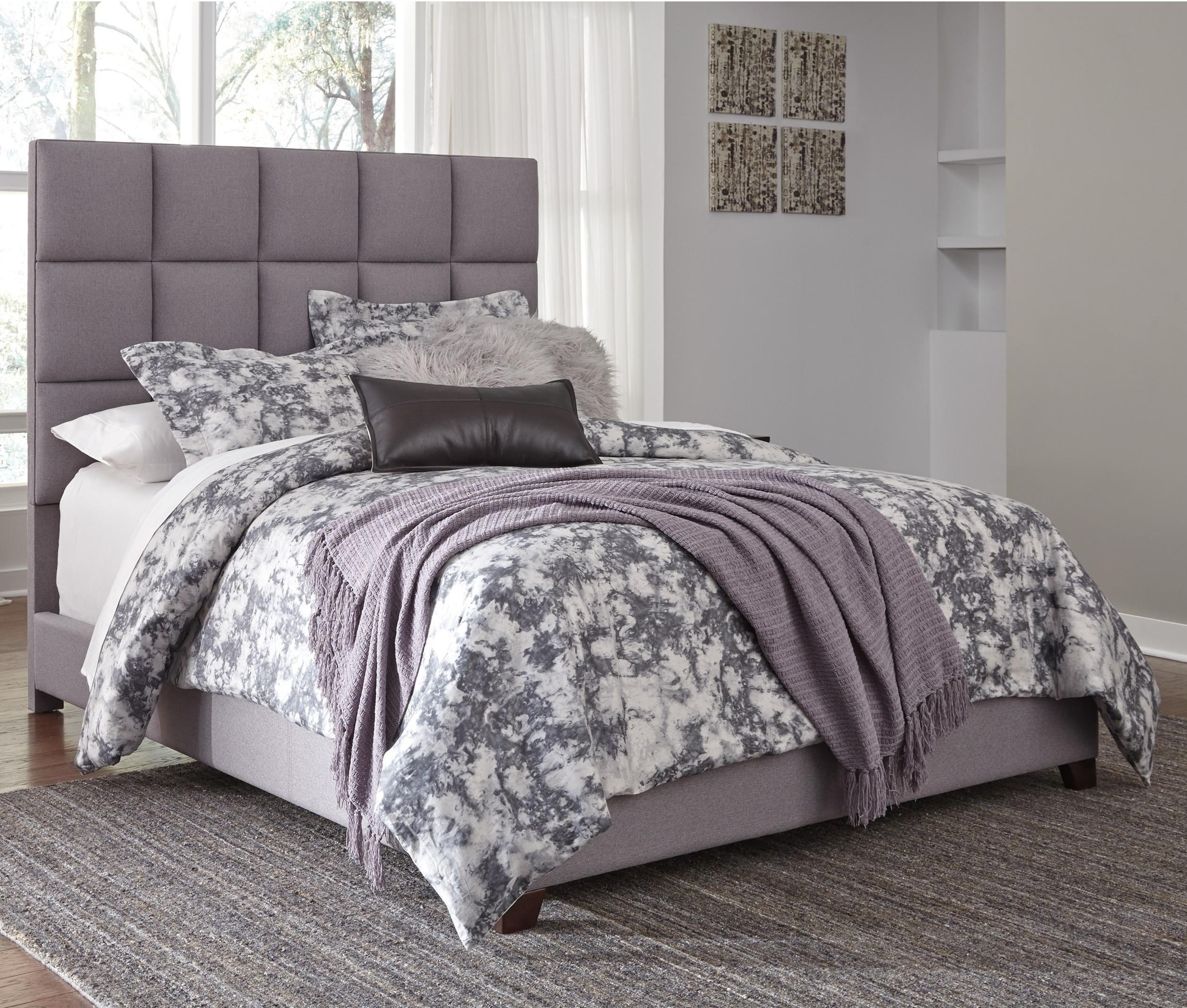 Signature design by ashley dolante queen upholstered bed for Upholstered beds