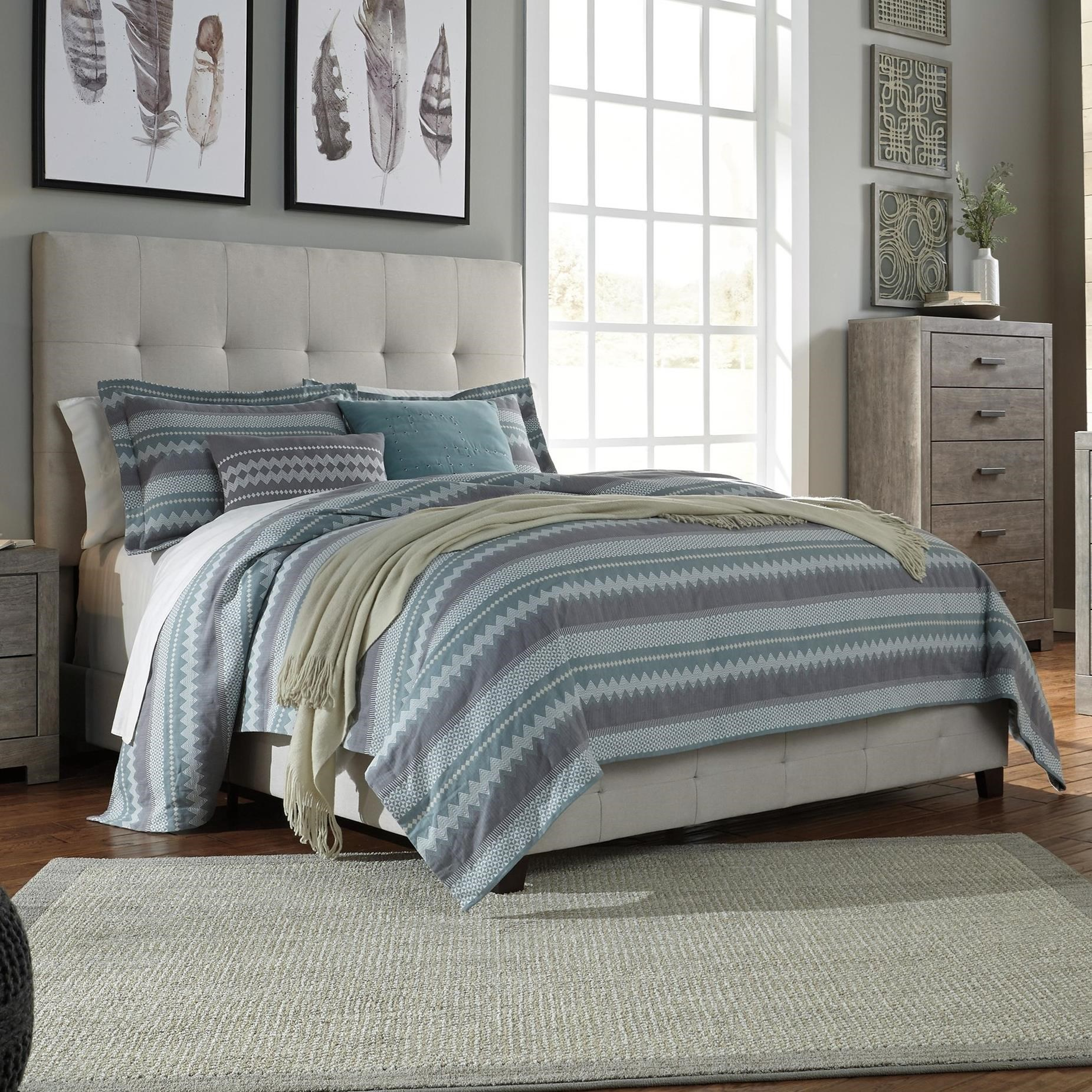 Ashley Signature Design Contemporary Upholstered Beds King