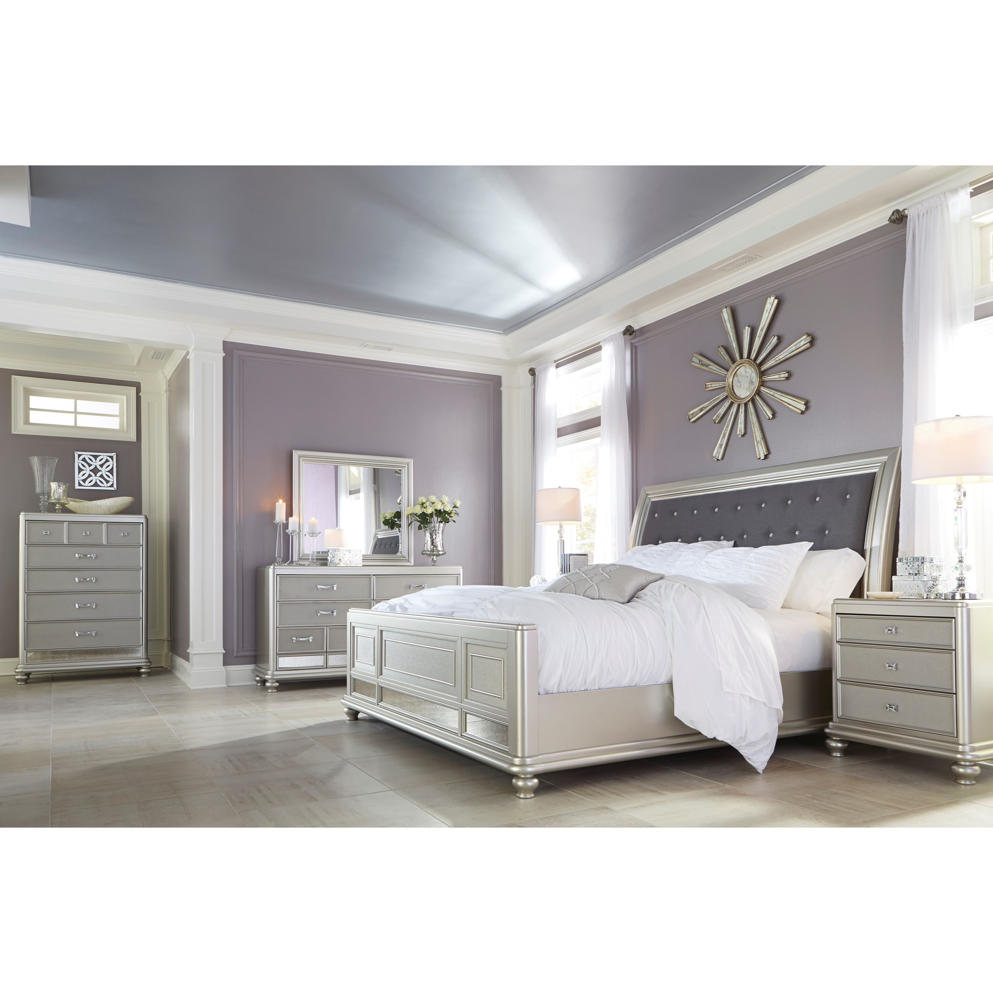 Signature design by ashley coralayne california king for Signature bedroom furniture
