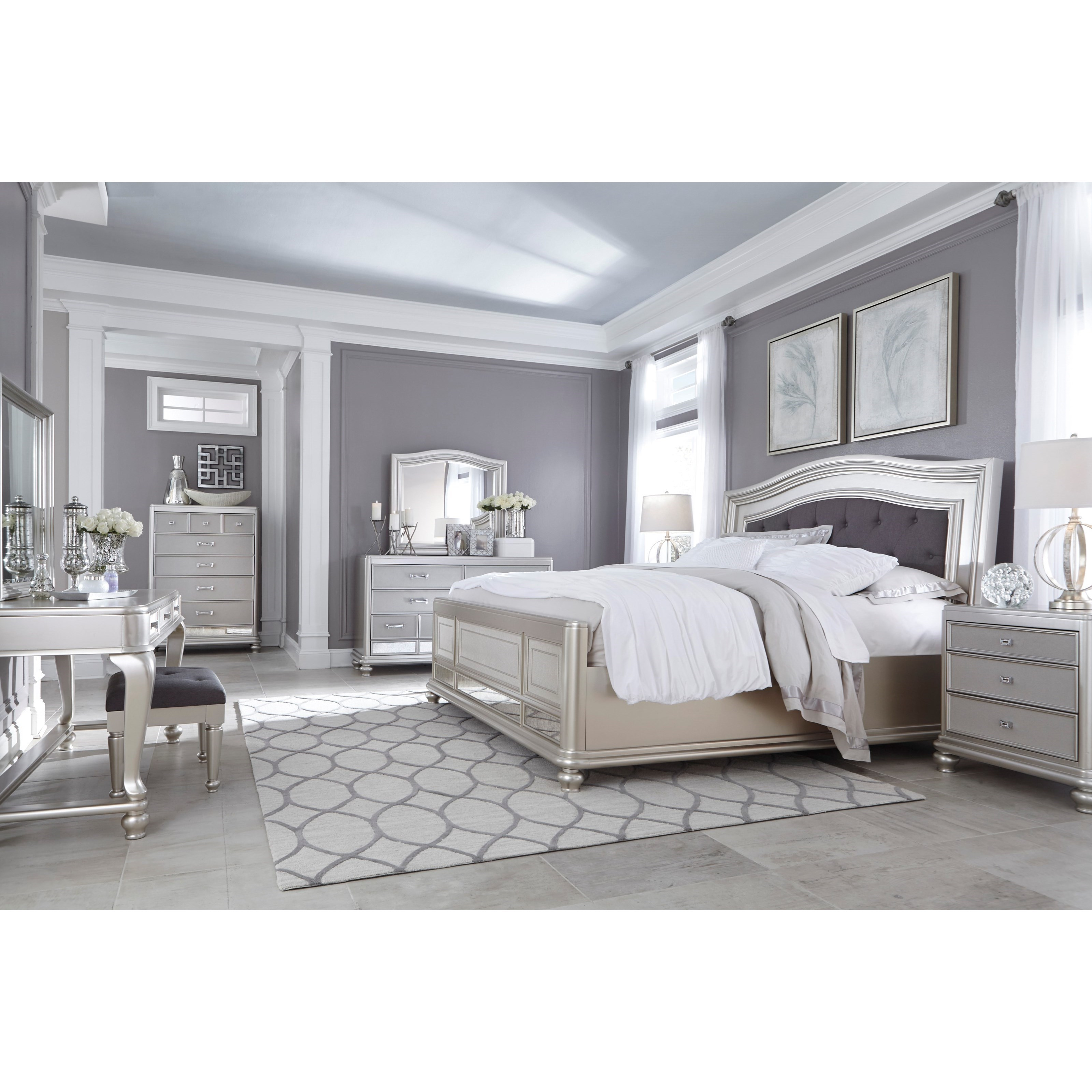 Signature design by ashley coralayne king bedroom group for Bedroom furniture groups