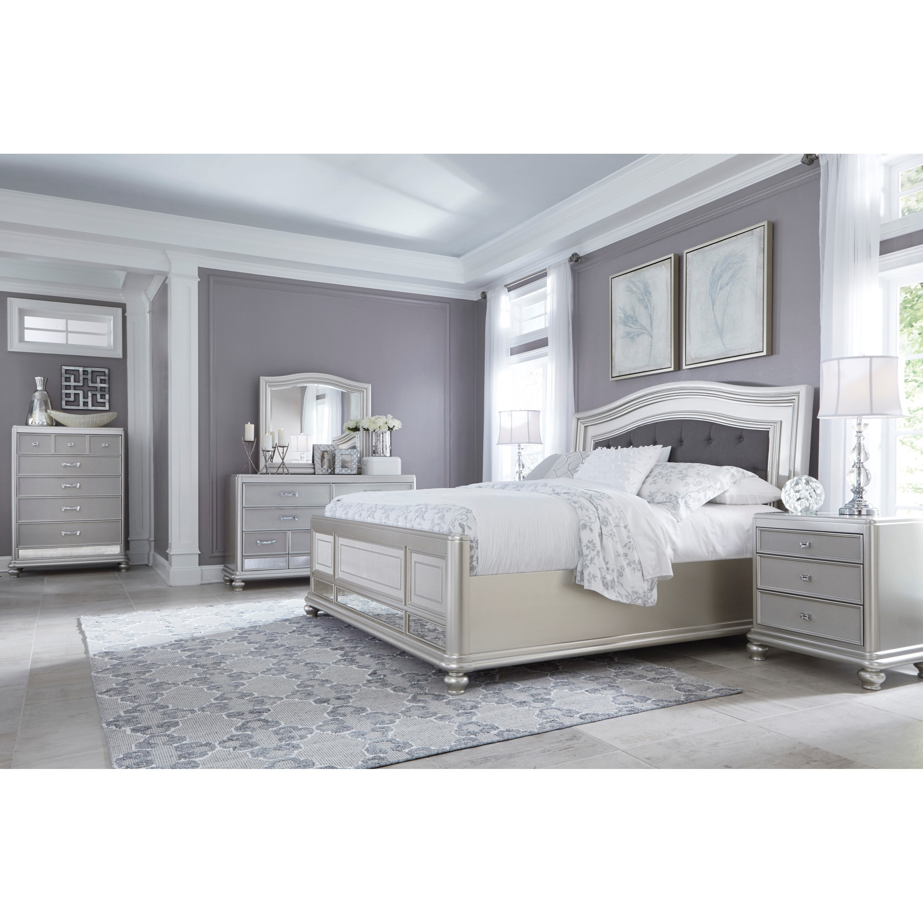 Signature Design by Ashley Coralayne Dresser & Arched Bedroom Mirror De