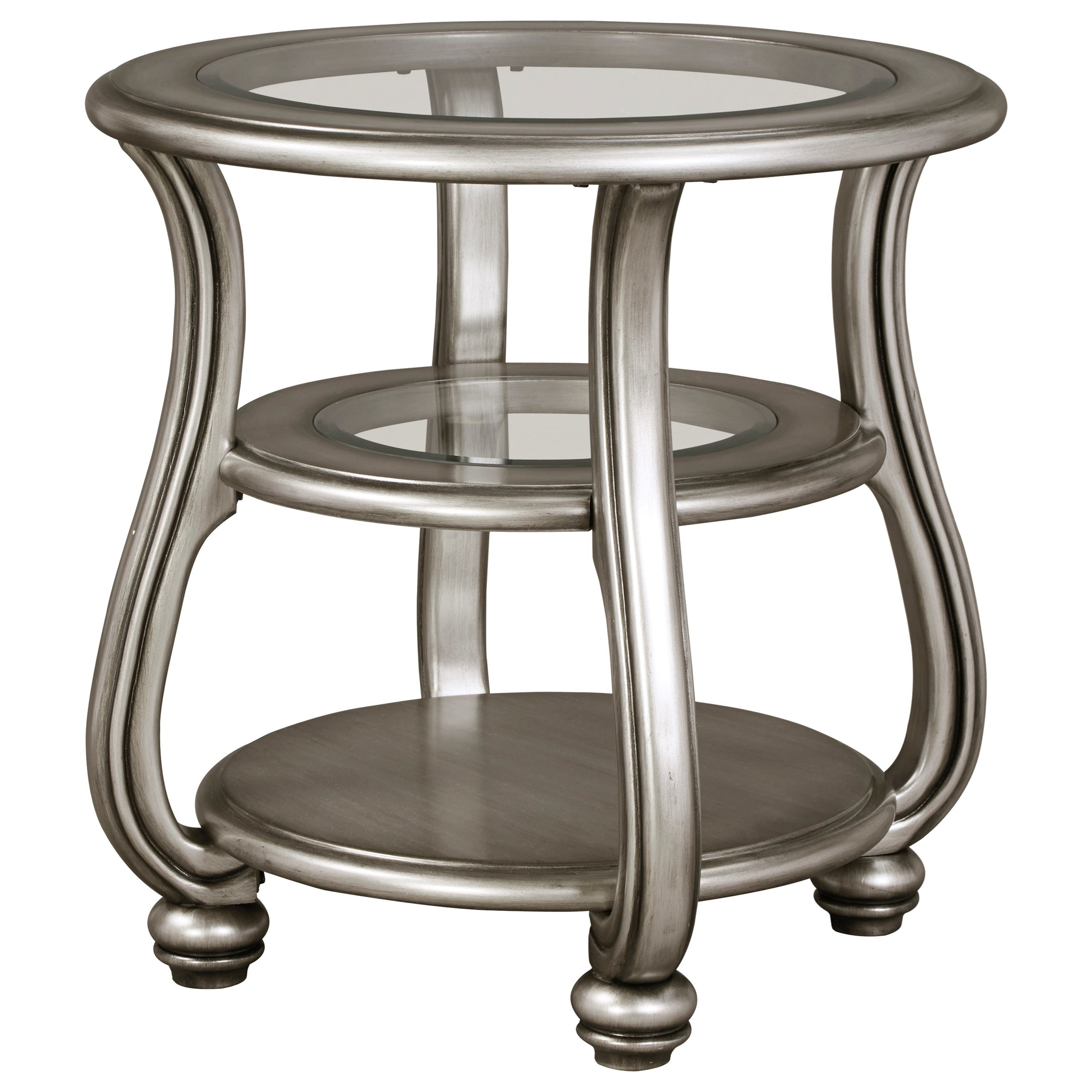 Signature design by ashley coralayne t820 6 round end for Occasional tables