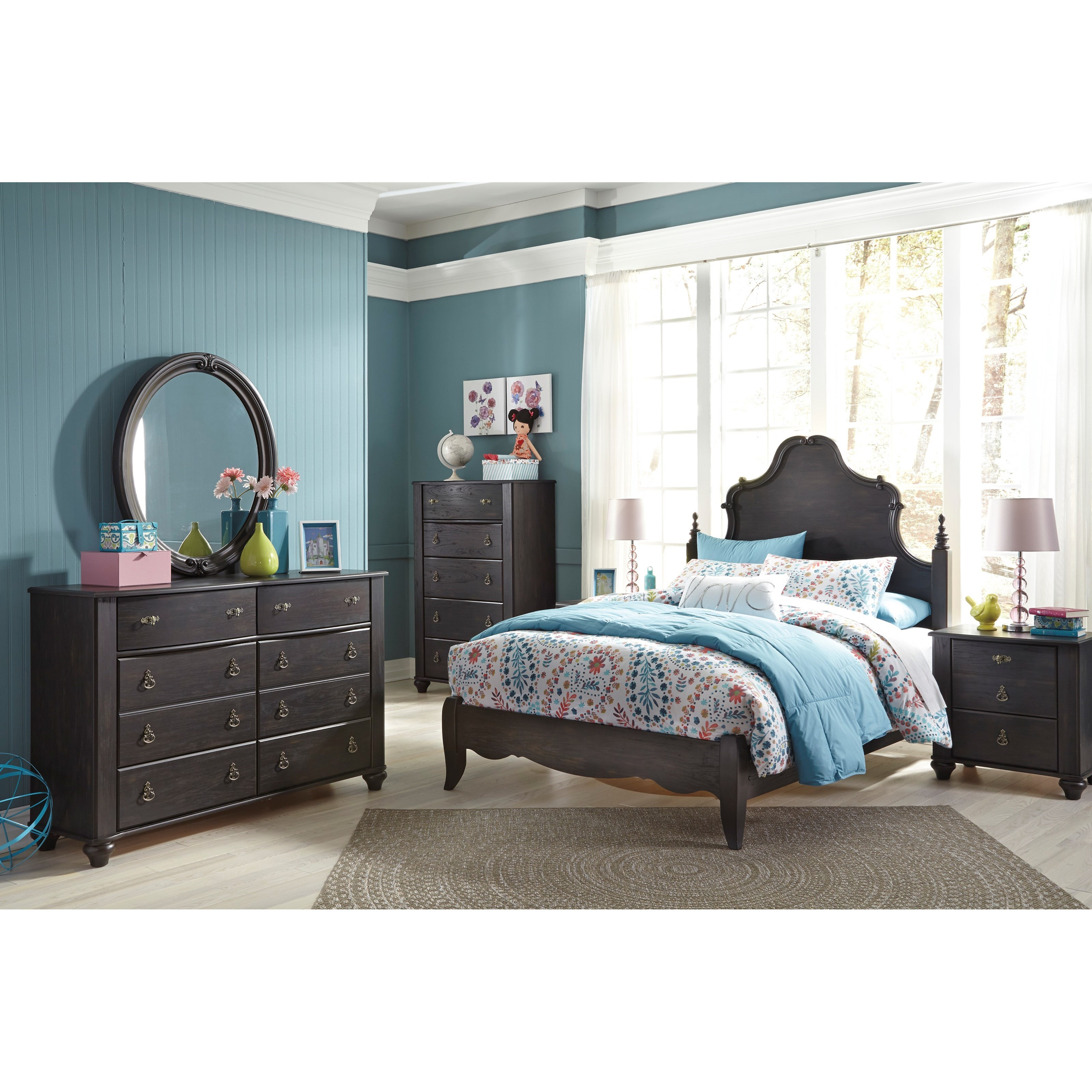 Signature design by ashley corilyn full bedroom group for Bedroom groups