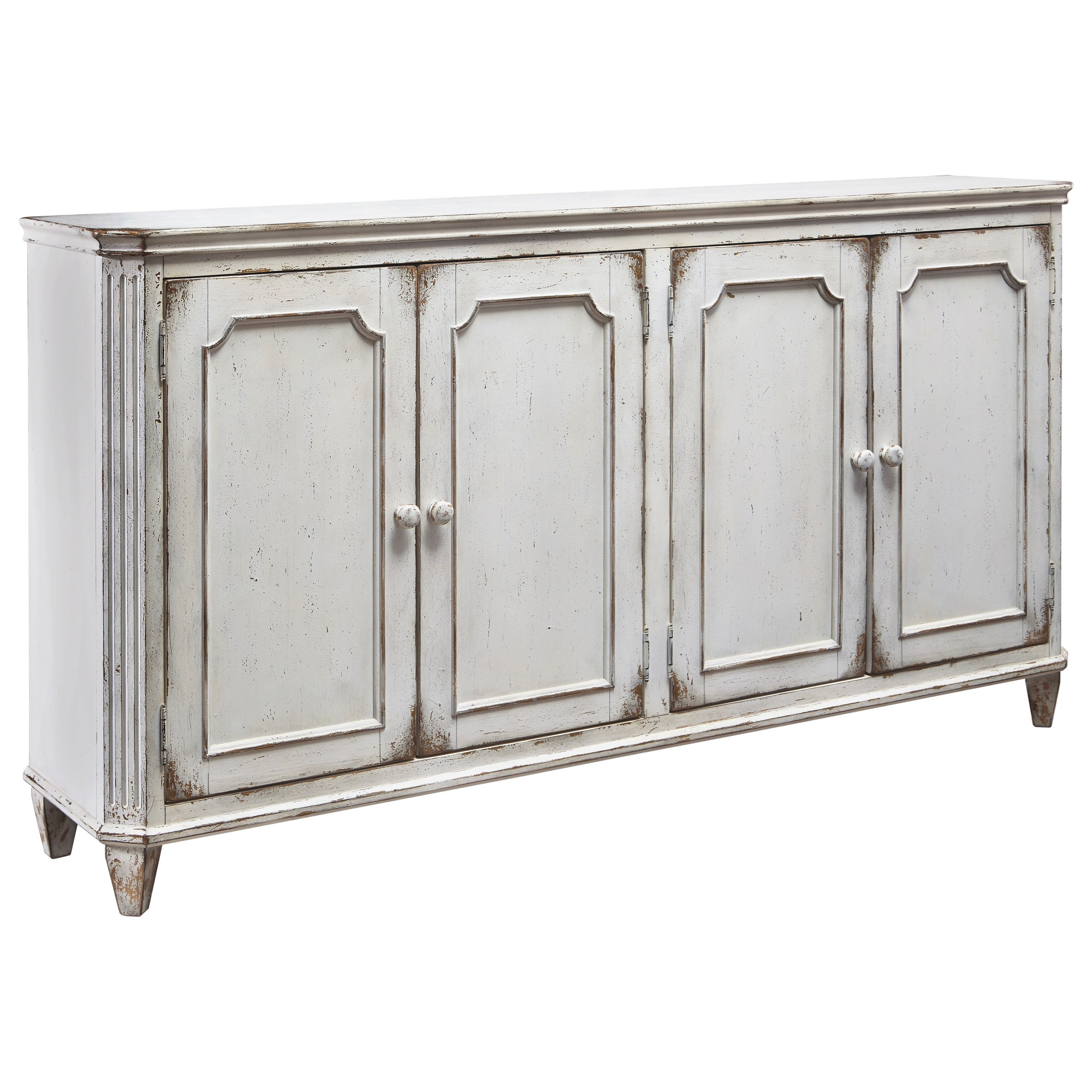 Signature design by ashley mirimyn french provincial style for Sofa table cabinet
