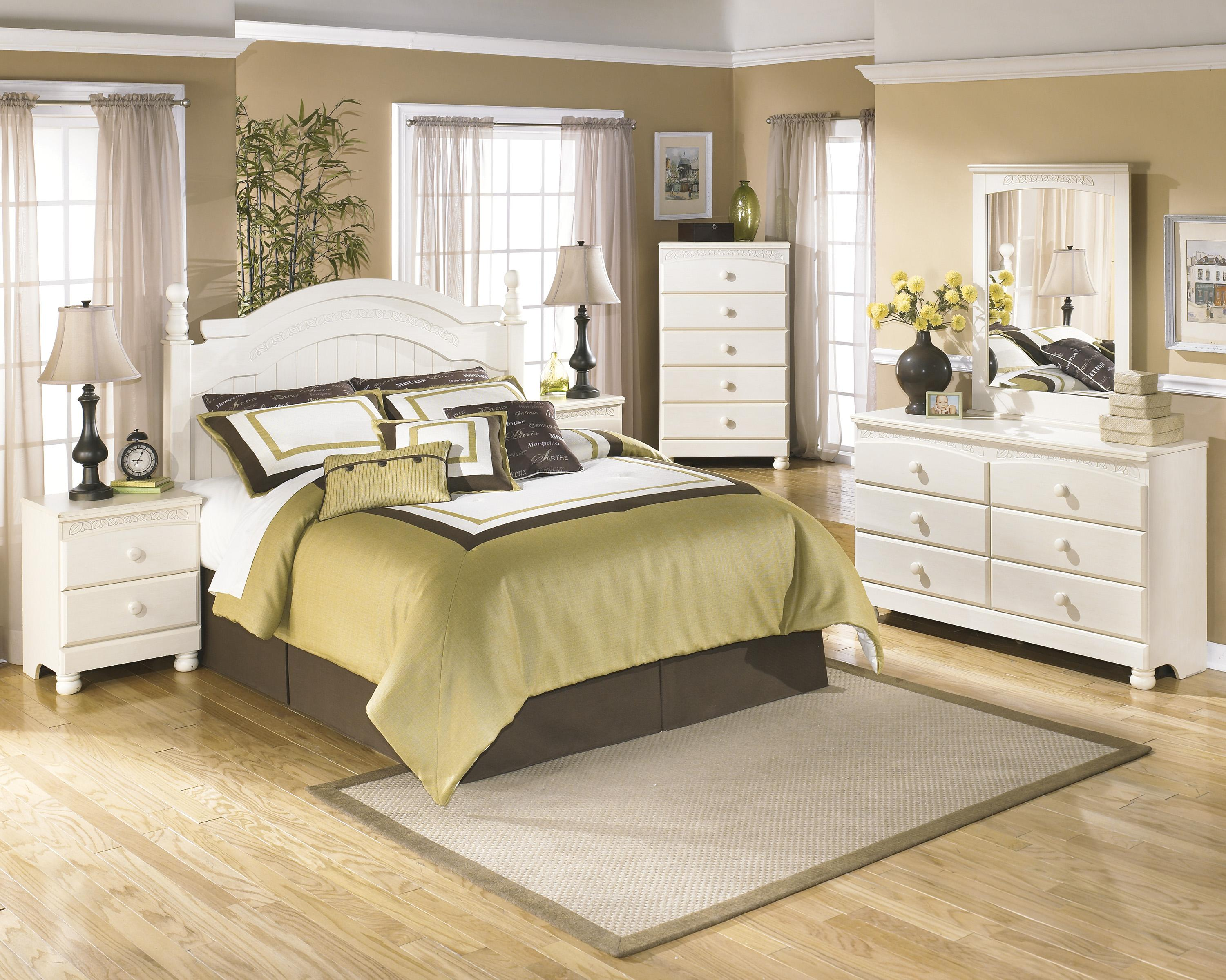 Ashley signature design cottage retreat queen full bedroom for Cottage retreat ii