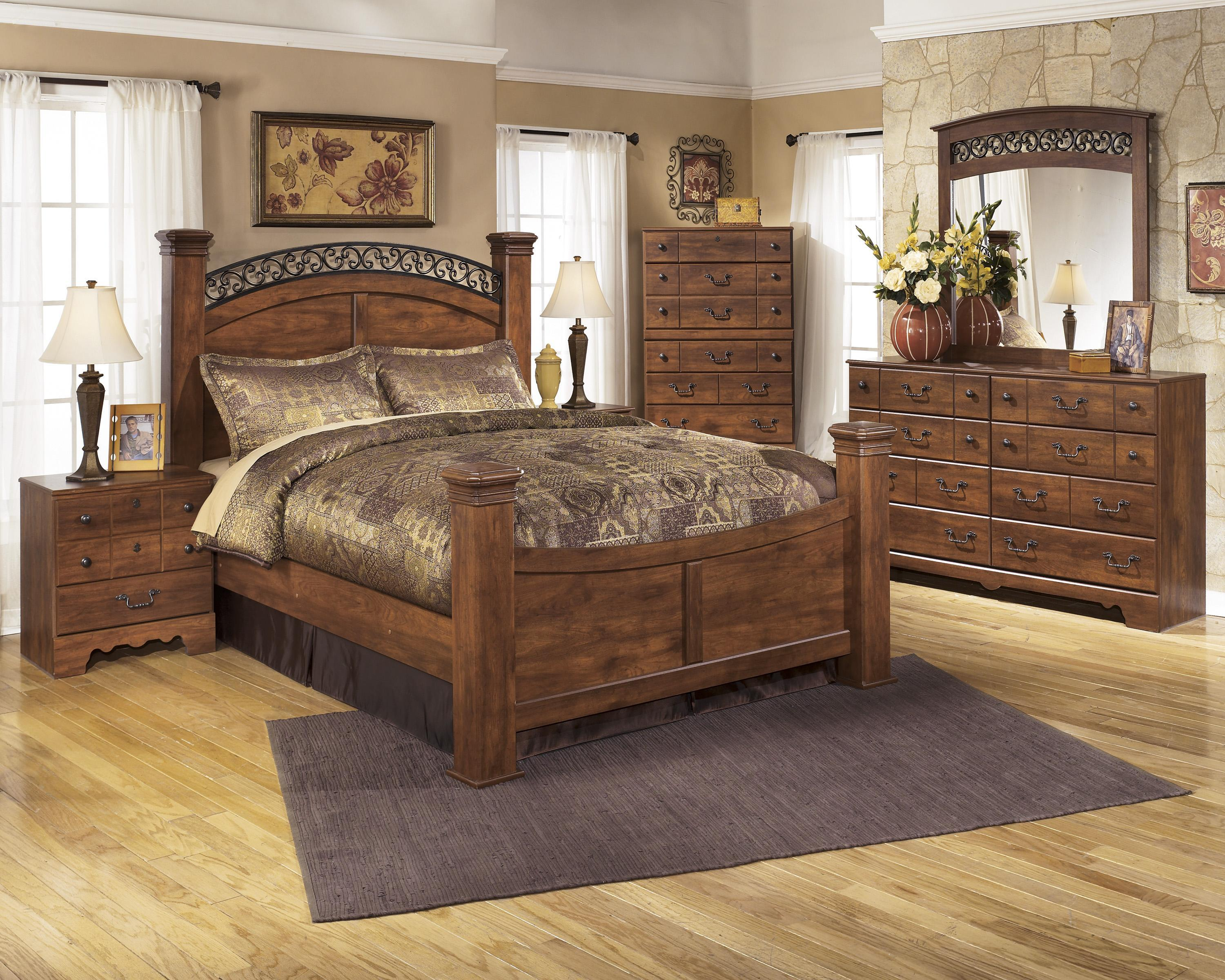 Signature Design By Ashley Timberline B258 Q Bedroom Group 3 No Chest Queen Bedroom Group 4pc