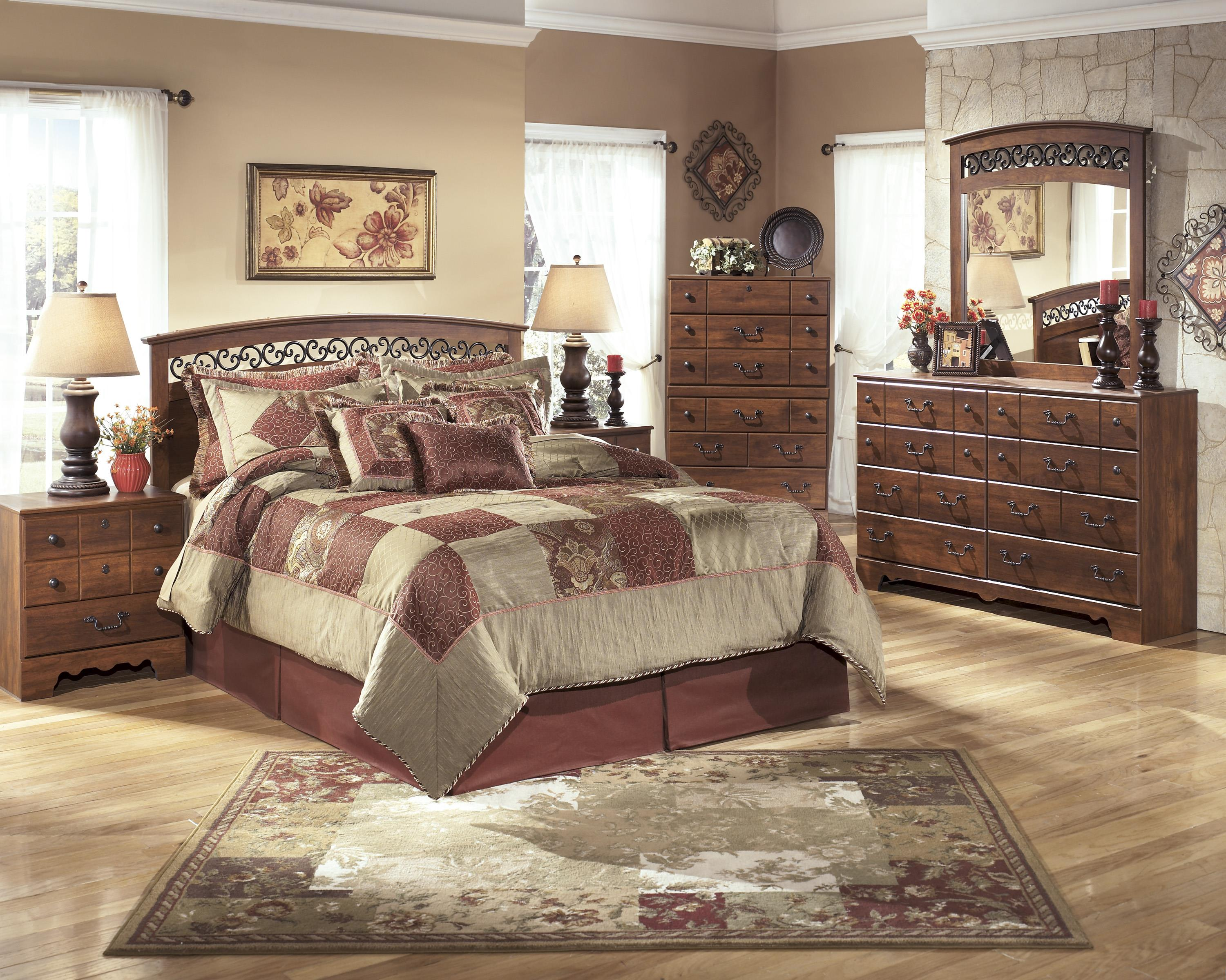 Ashley signature design timberline queen full bedroom for Bedroom furniture groups