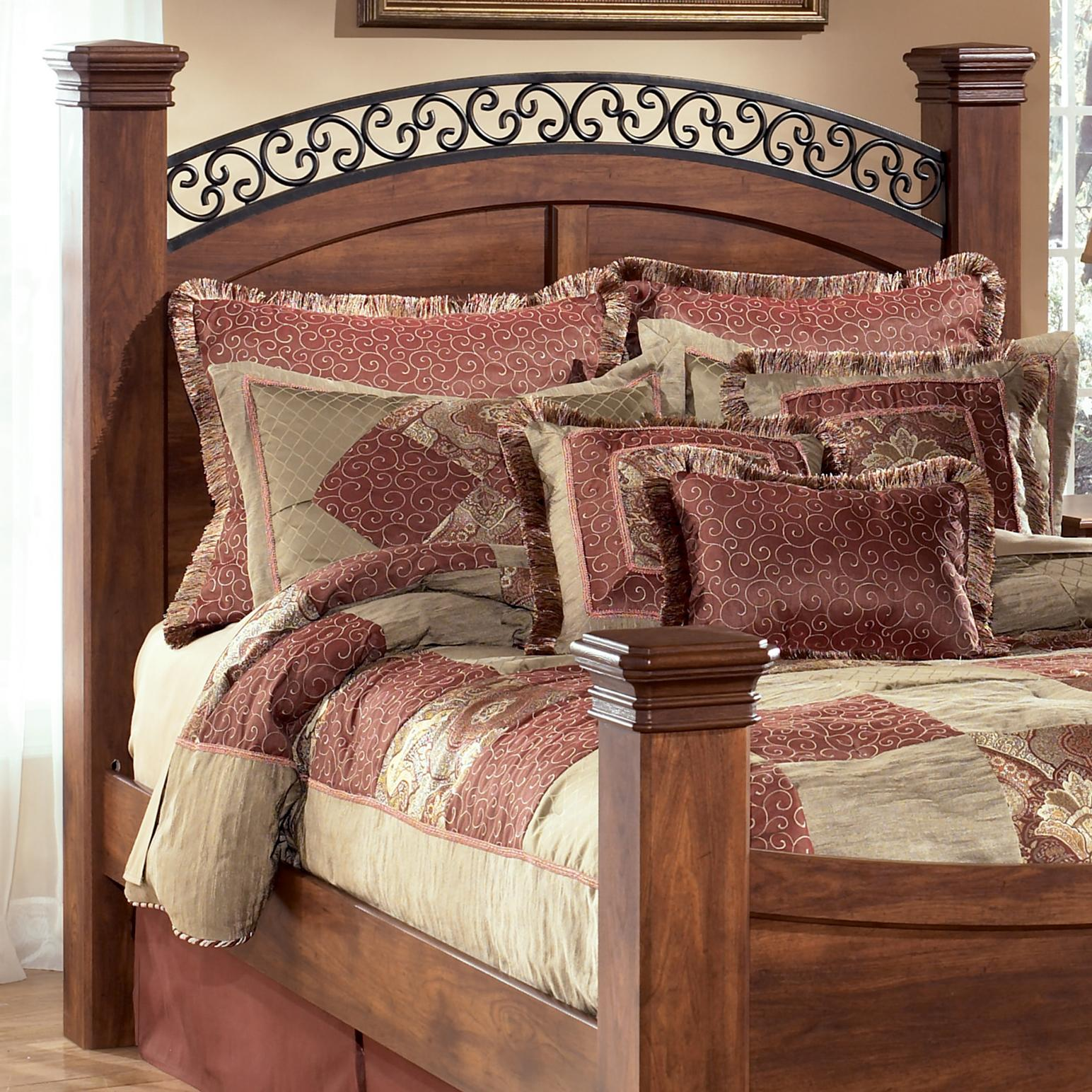 Signature Design By Ashley Timberline King Poster Headboard Panel Posts Del Sol Furniture