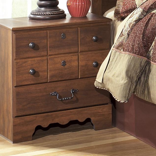 Ashley Signature Design Timberline B258 92 2 Drawer Night Stand Dunk Bright Furniture