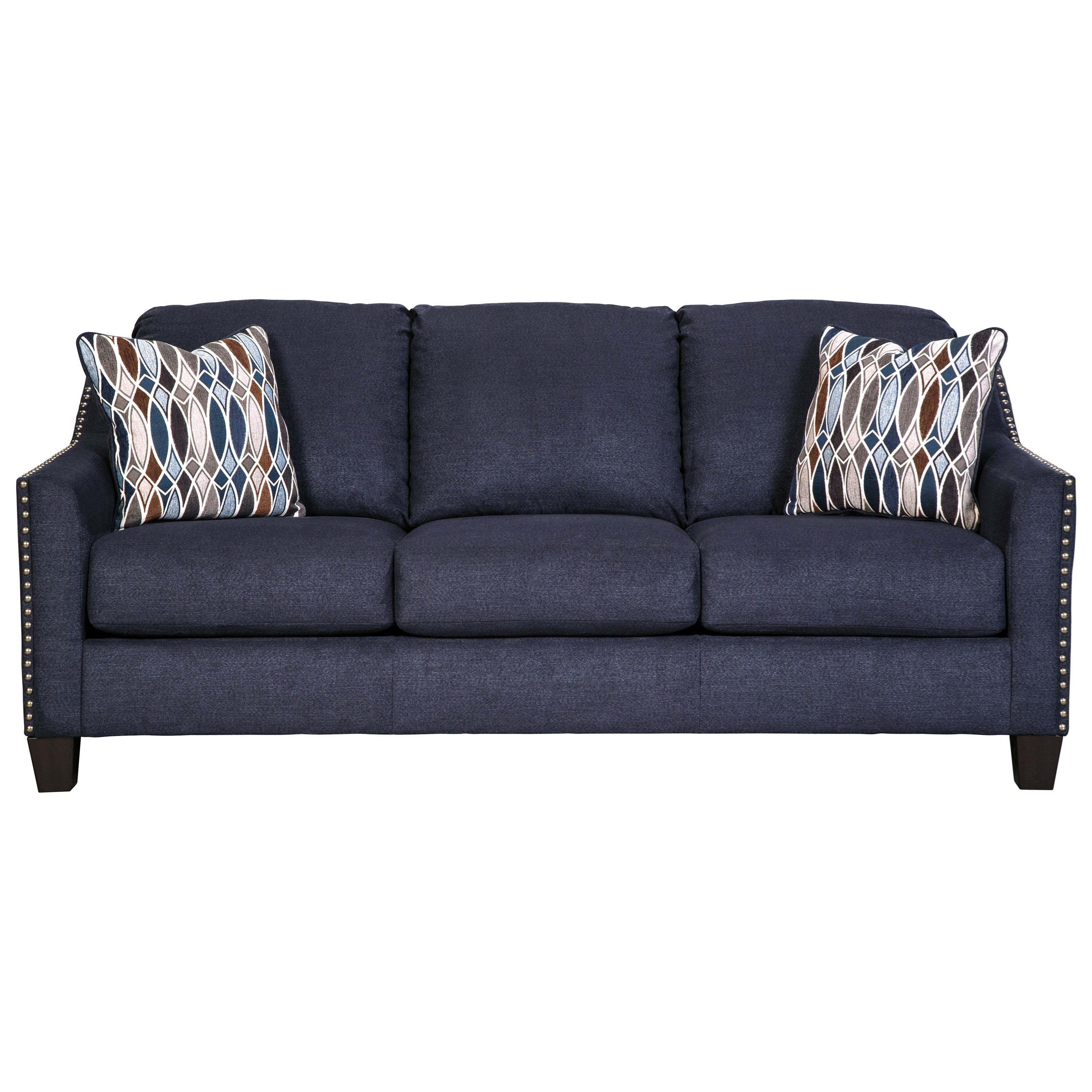 Benchcraft creeal heights 8020238 sofa with nailhead studs for Sofa with studs