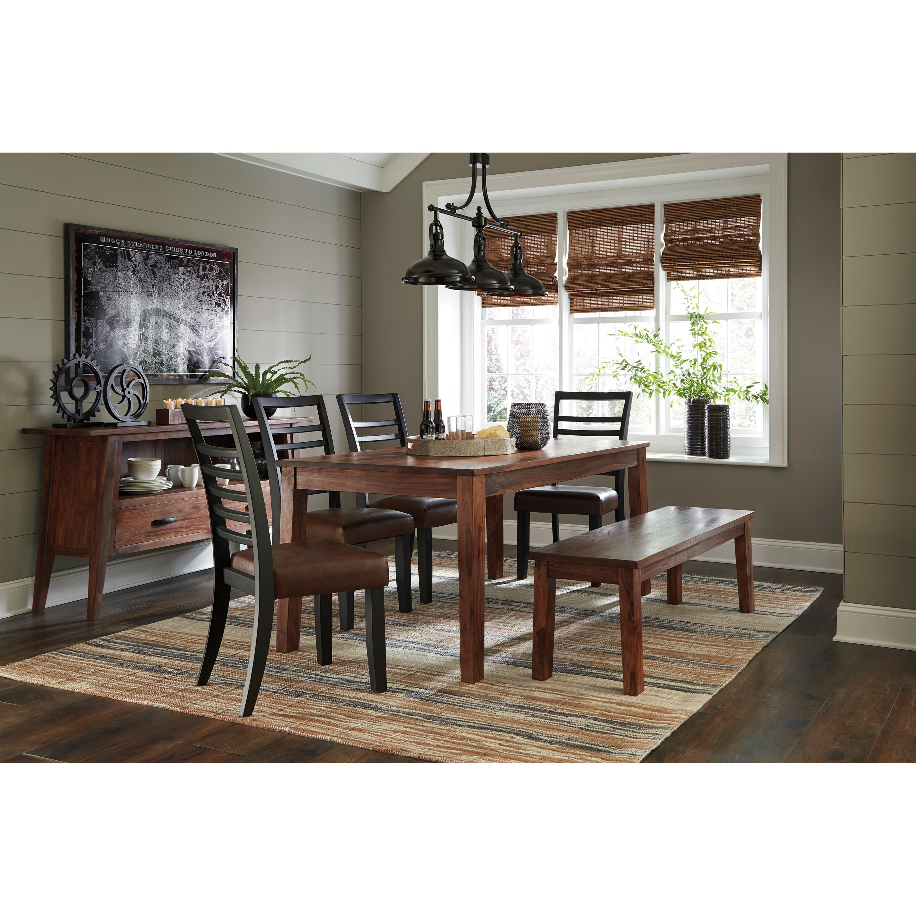 Signature design by ashley manishore casual dining room for Casual dining room decor