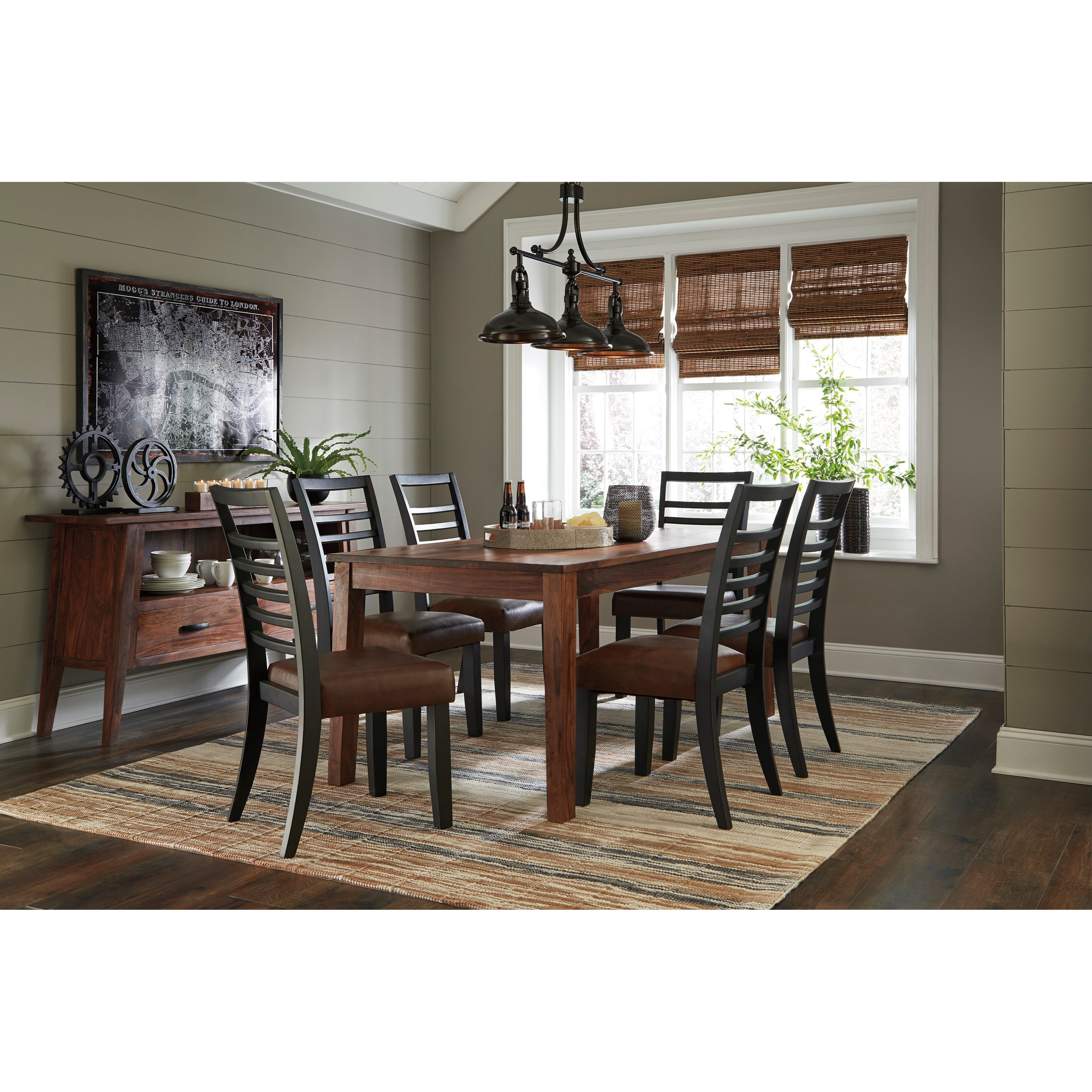 Signature design by ashley manishore casual dining room for Casual dining room chairs