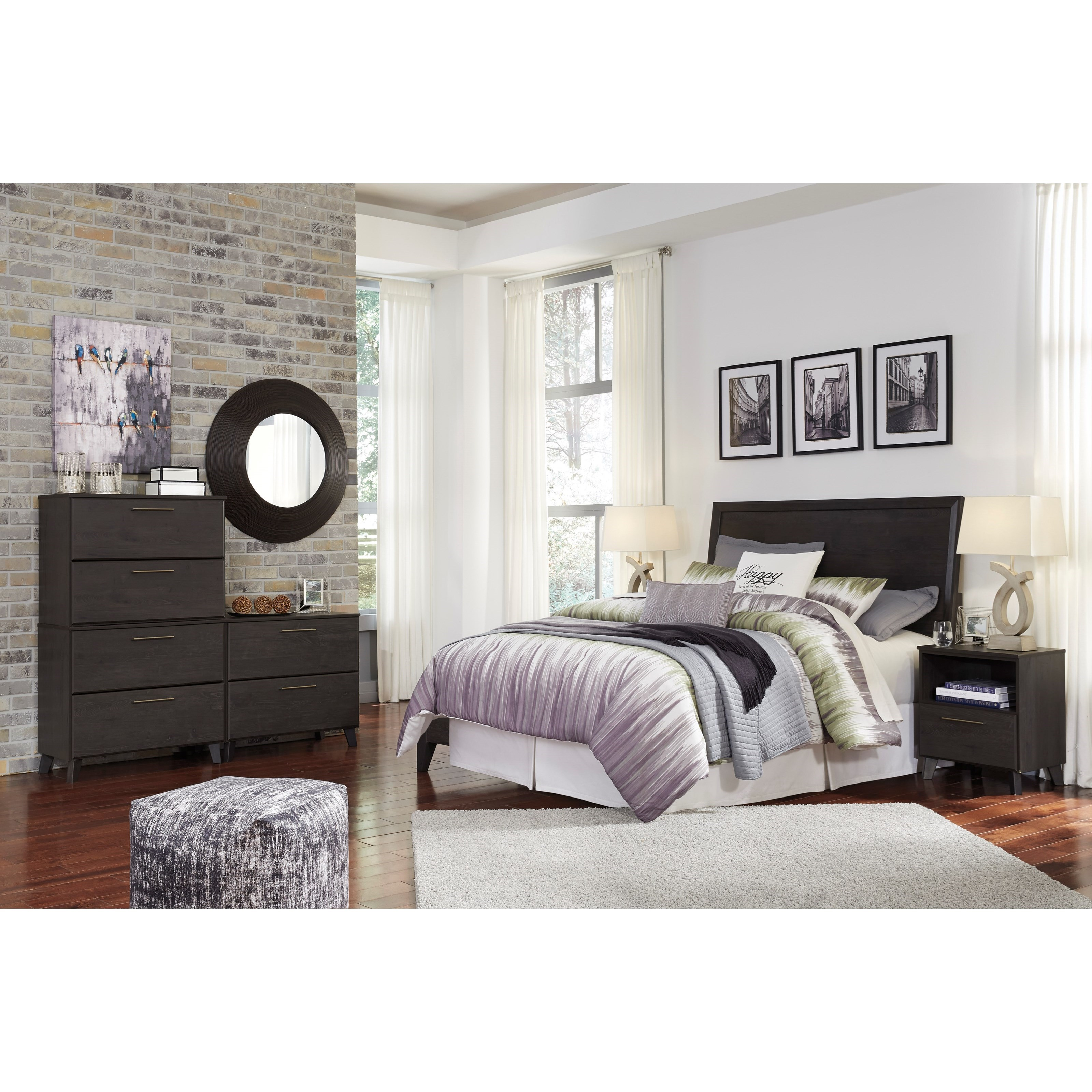Signature design by ashley daltori queen bedroom group for Bedroom furniture groups