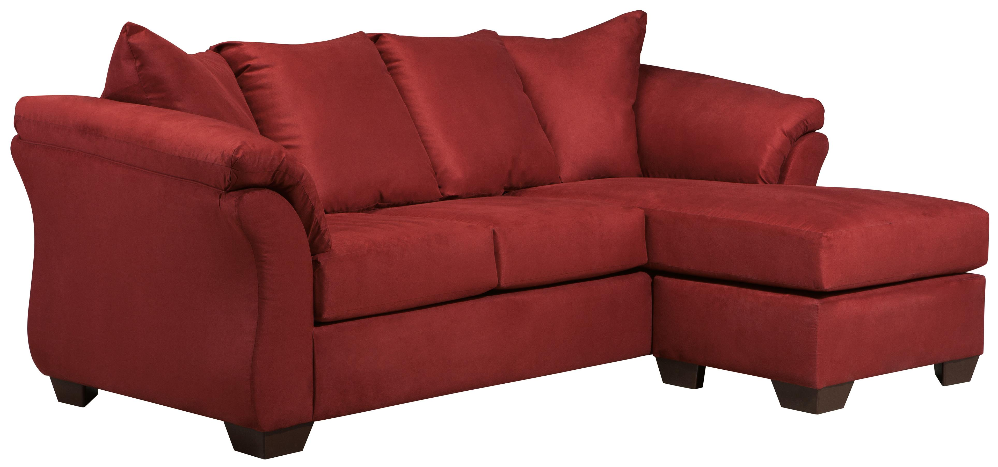 Signature design by ashley york salsa contemporary sofa for Divan vs chaise