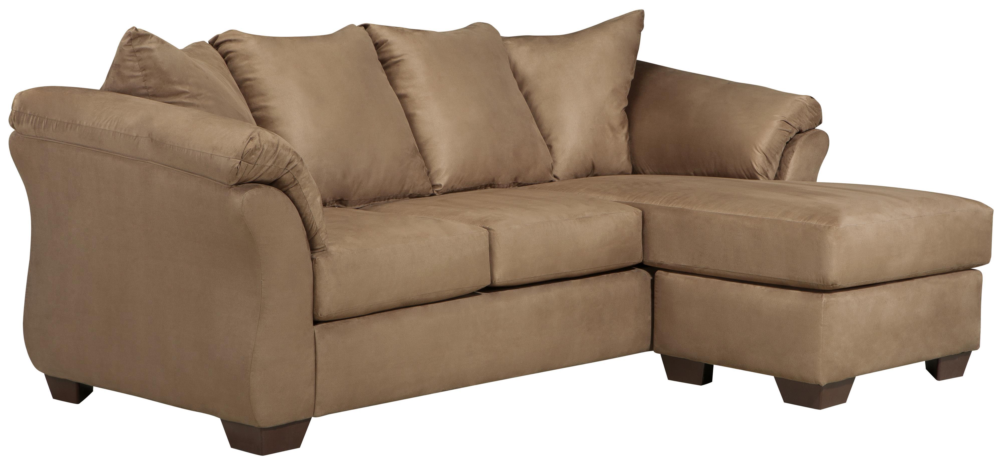 Signature design by ashley darcy mocha contemporary sofa for Chaises design colorees