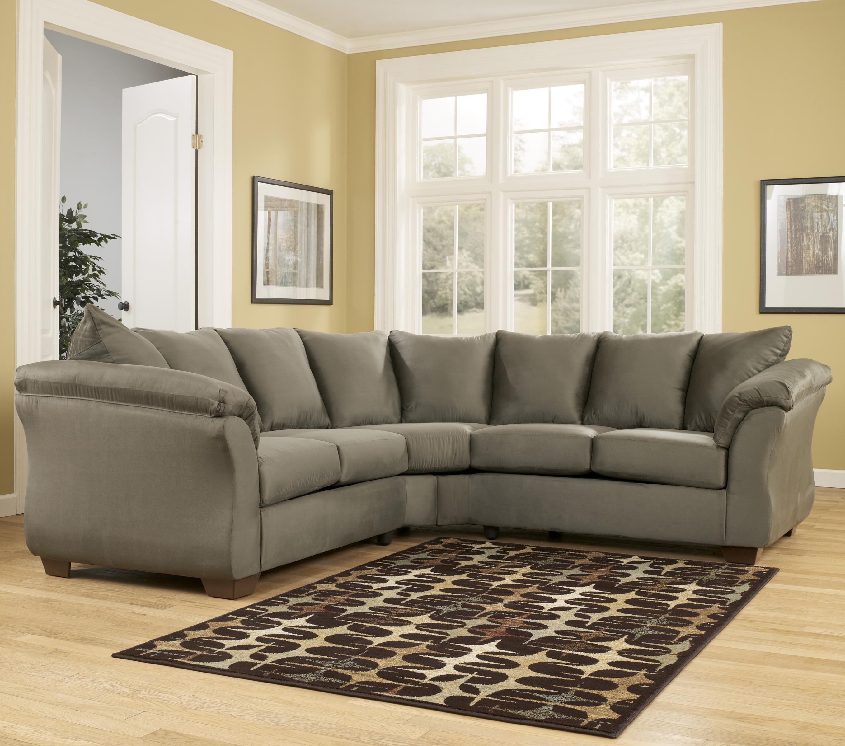 Signature design by ashley darcy sage contemporary for Sectional sofas by ashley furniture