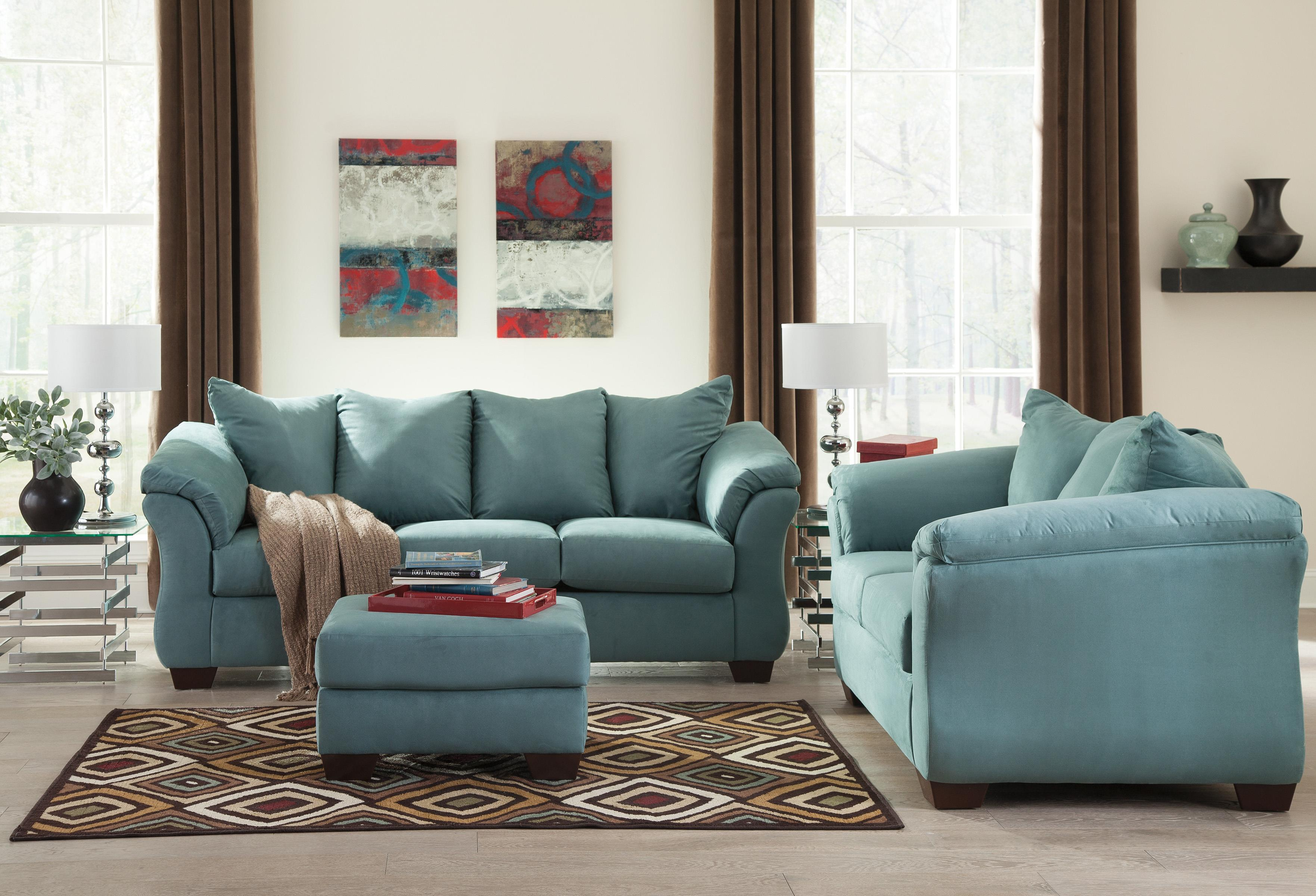 Signature design by ashley darcy sky contemporary for Stratford home pillows living room furniture