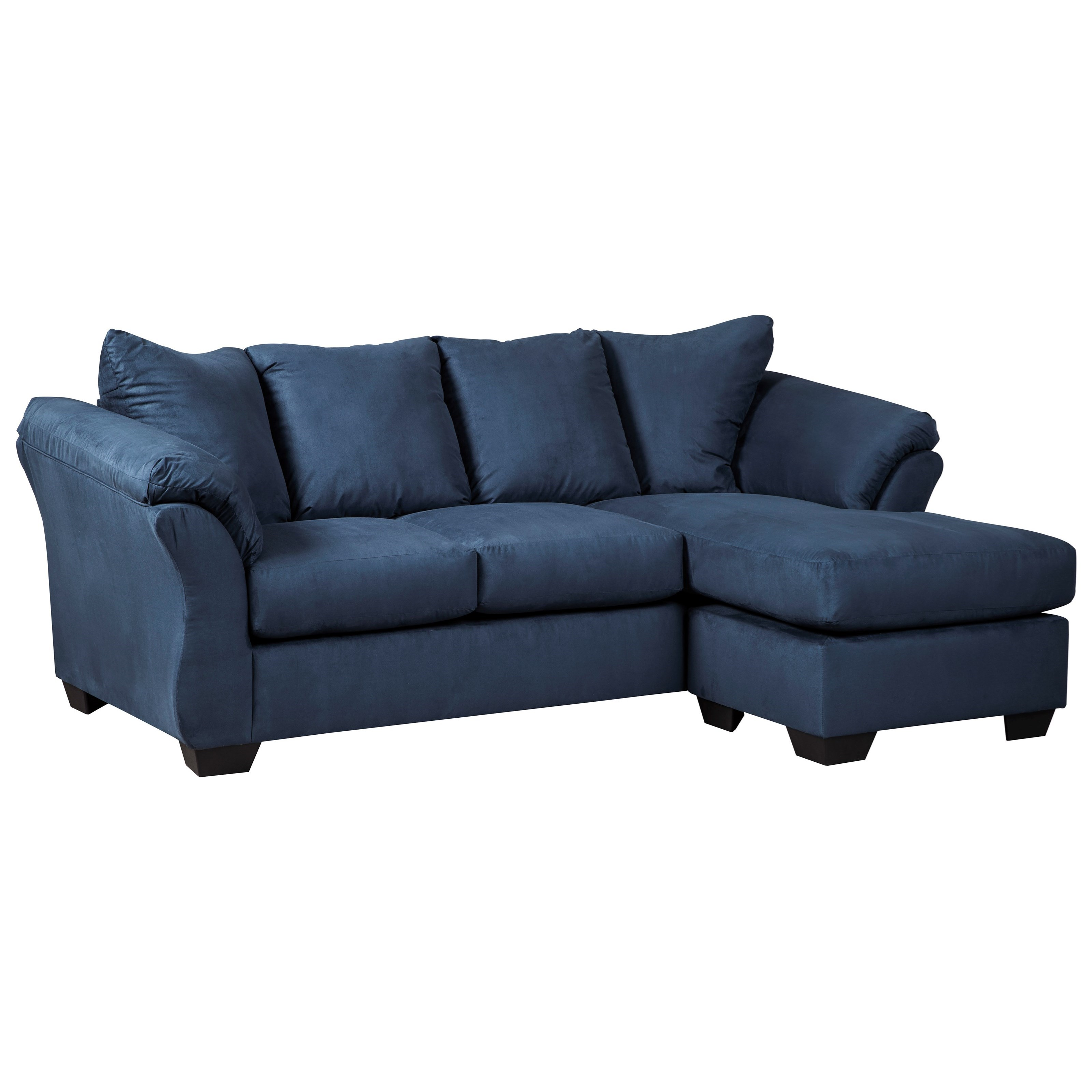 Signature design by ashley darcy blue contemporary sofa for Chaise design coloree