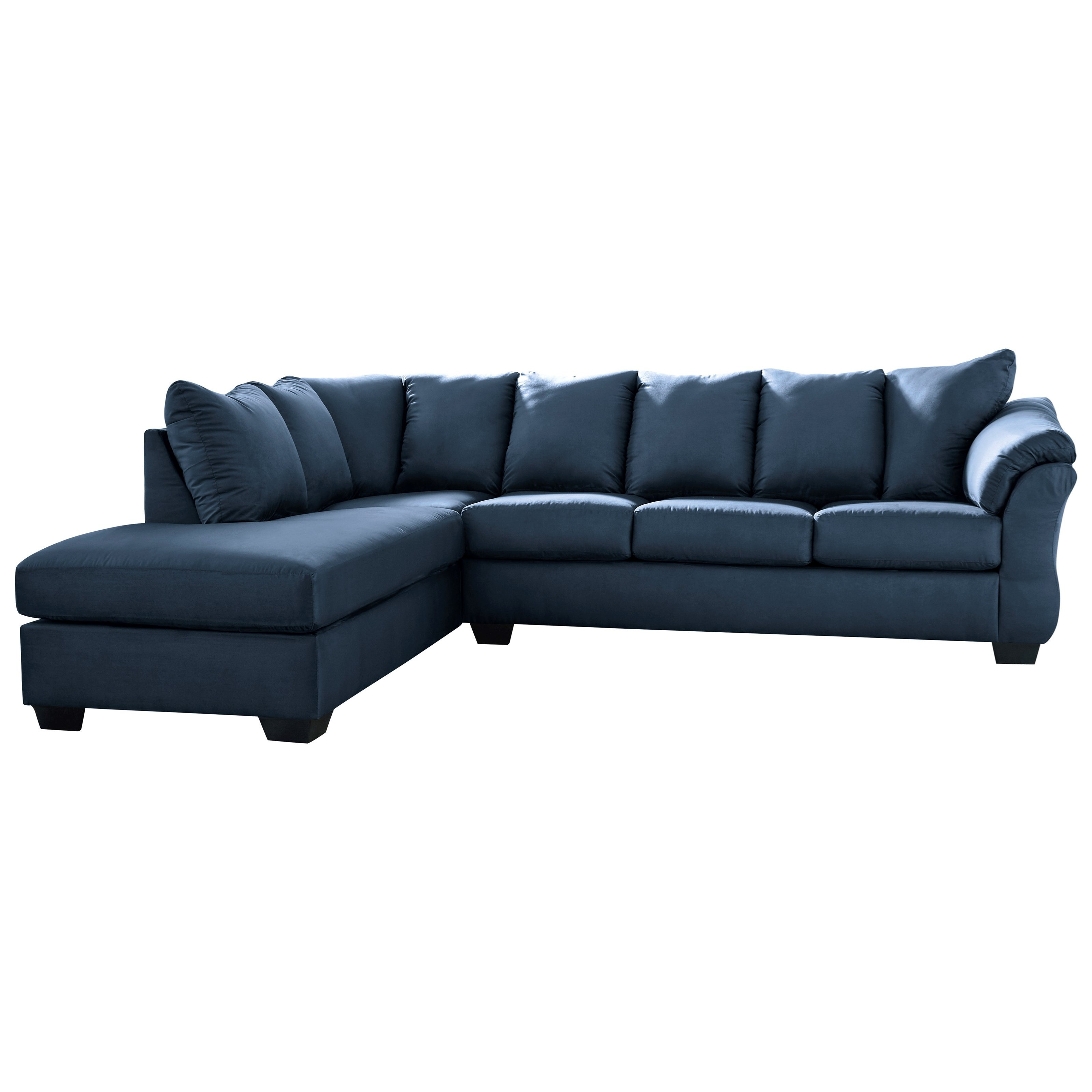 benchcraft darcy blue contemporary 2 piece sectional sofa with left chaise virginia. Black Bedroom Furniture Sets. Home Design Ideas