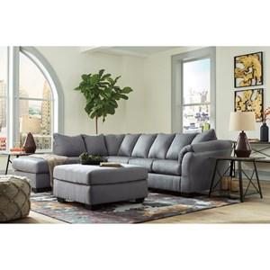 Signature Design By Ashley Darcy Steel Stationary Living Room Group Wayside