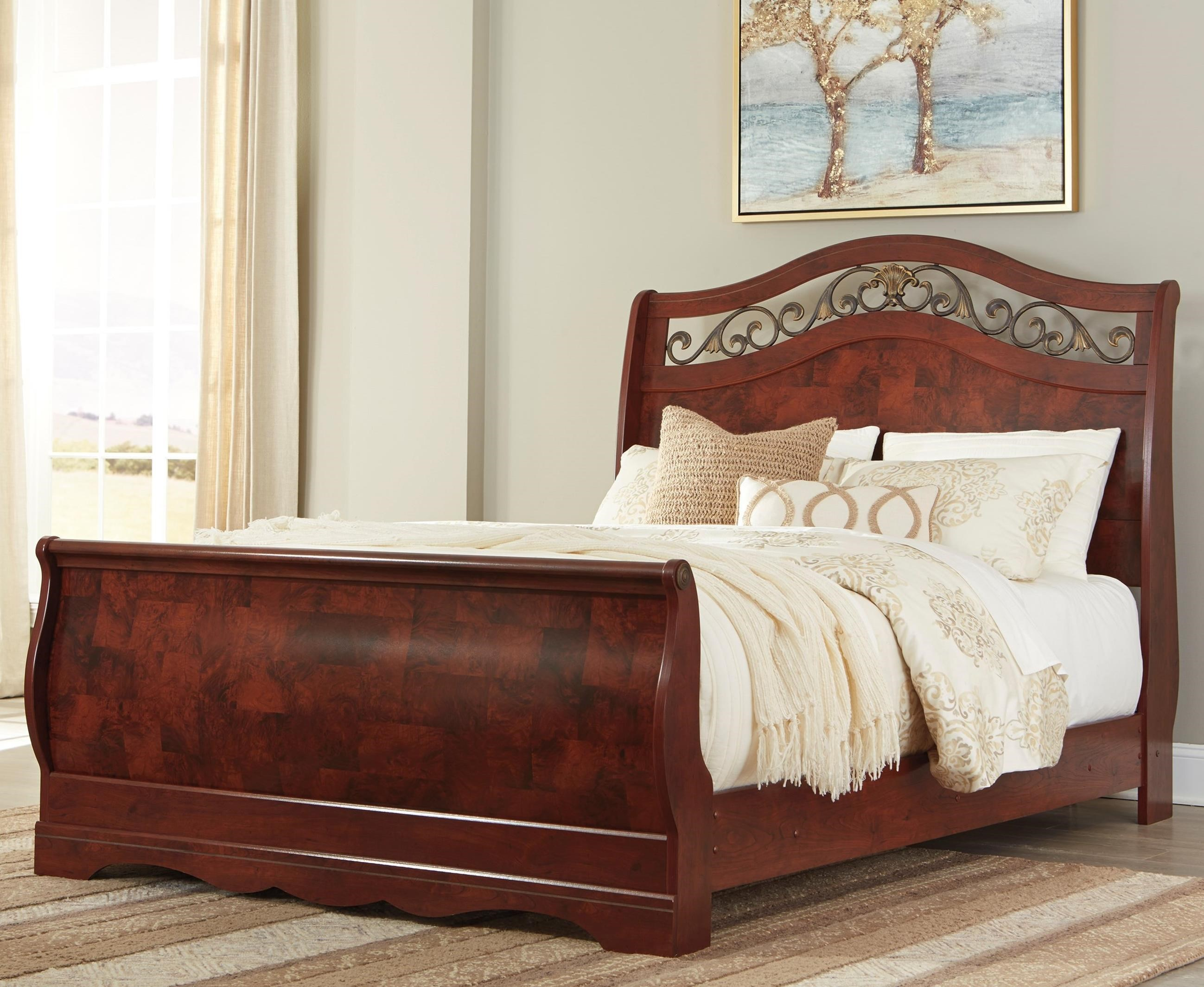 Signature Design By Ashley Furniture Delianna Traditional Queen Sleigh Bed Sam 39 S Appliance