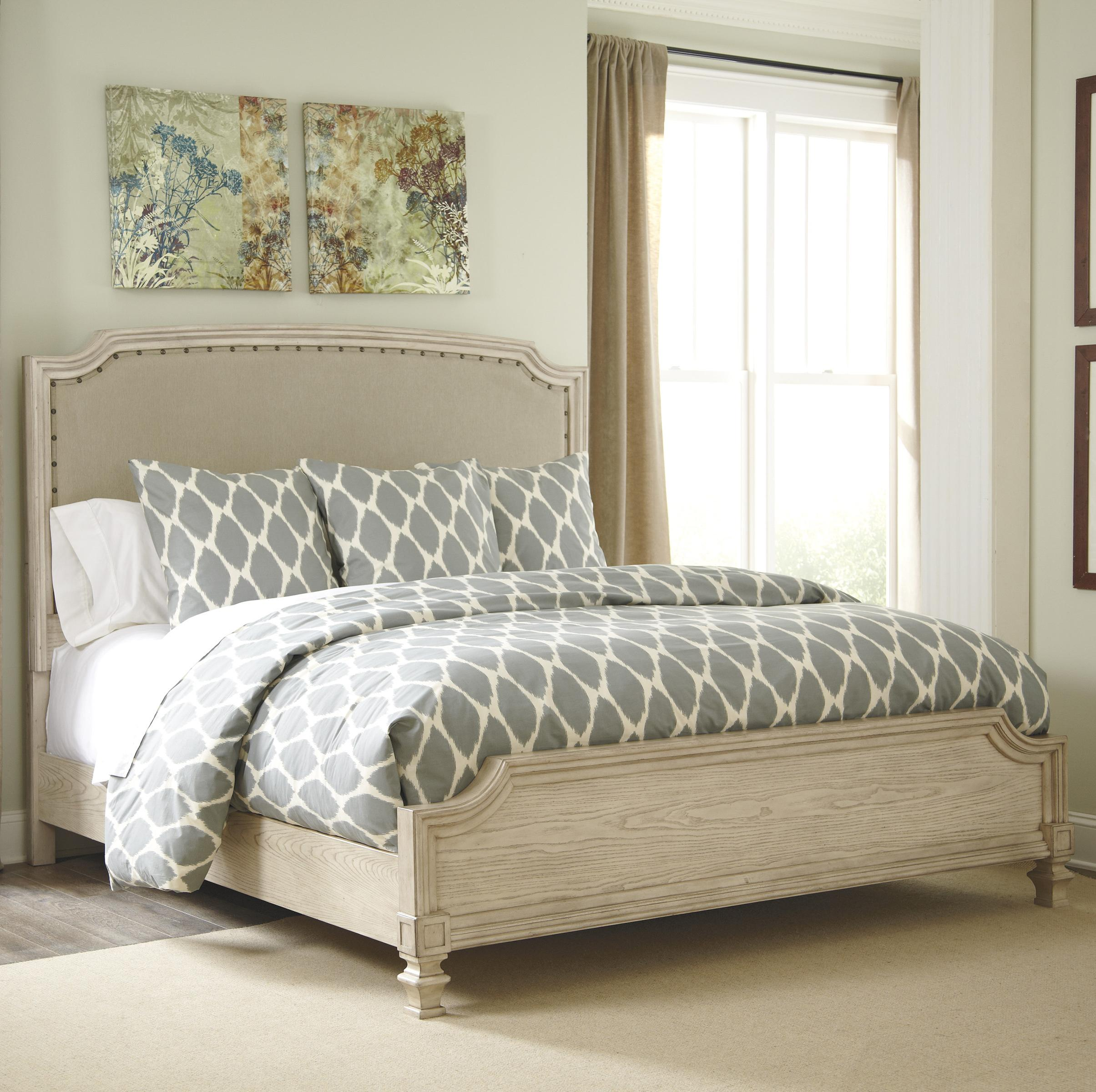 Signature design by ashley demarlos king upholstered panel for King footboard