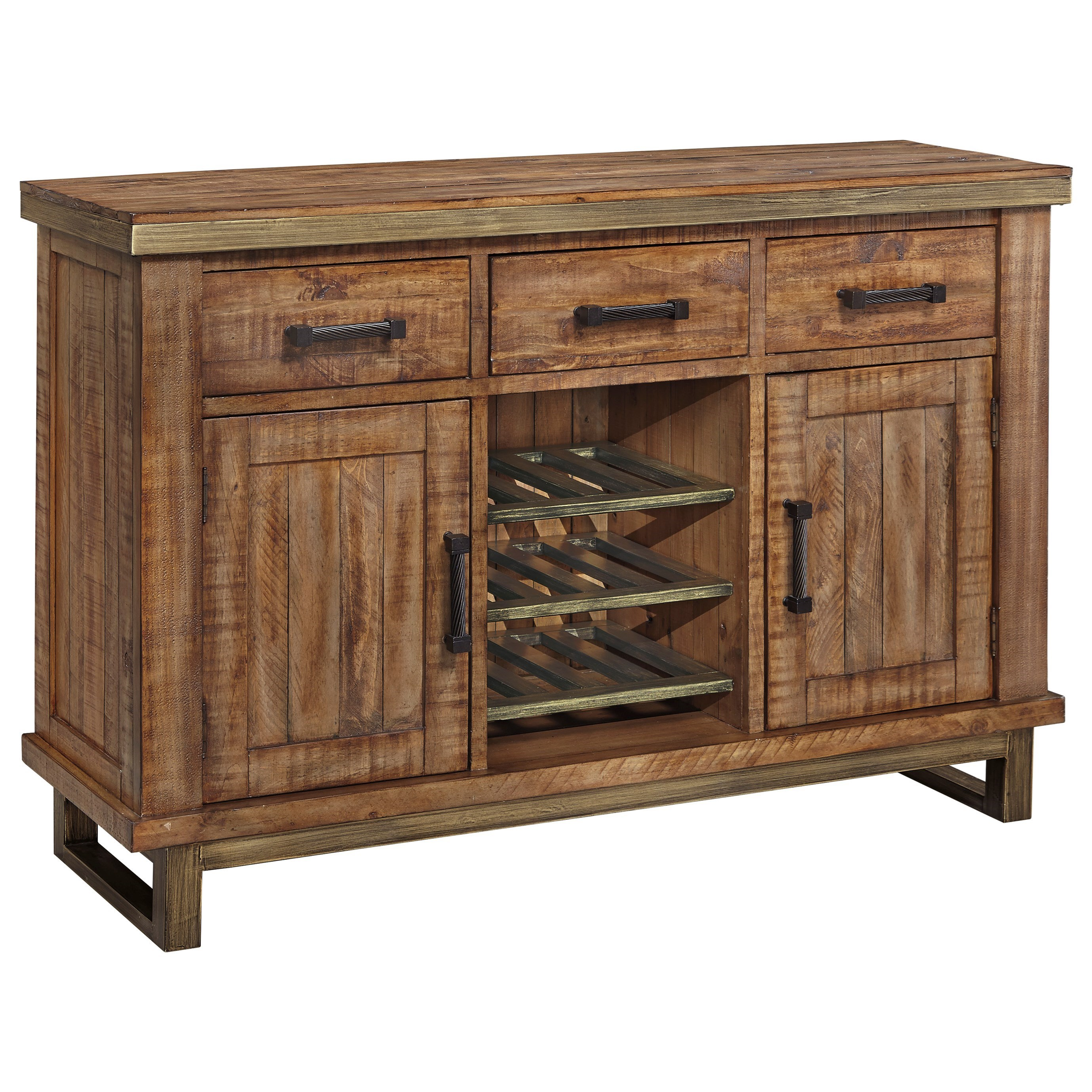 Superb img of Signature Design by Ashley Dondie Solid Wood Dining Room Server with  with #8D653E color and 2757x2757 pixels