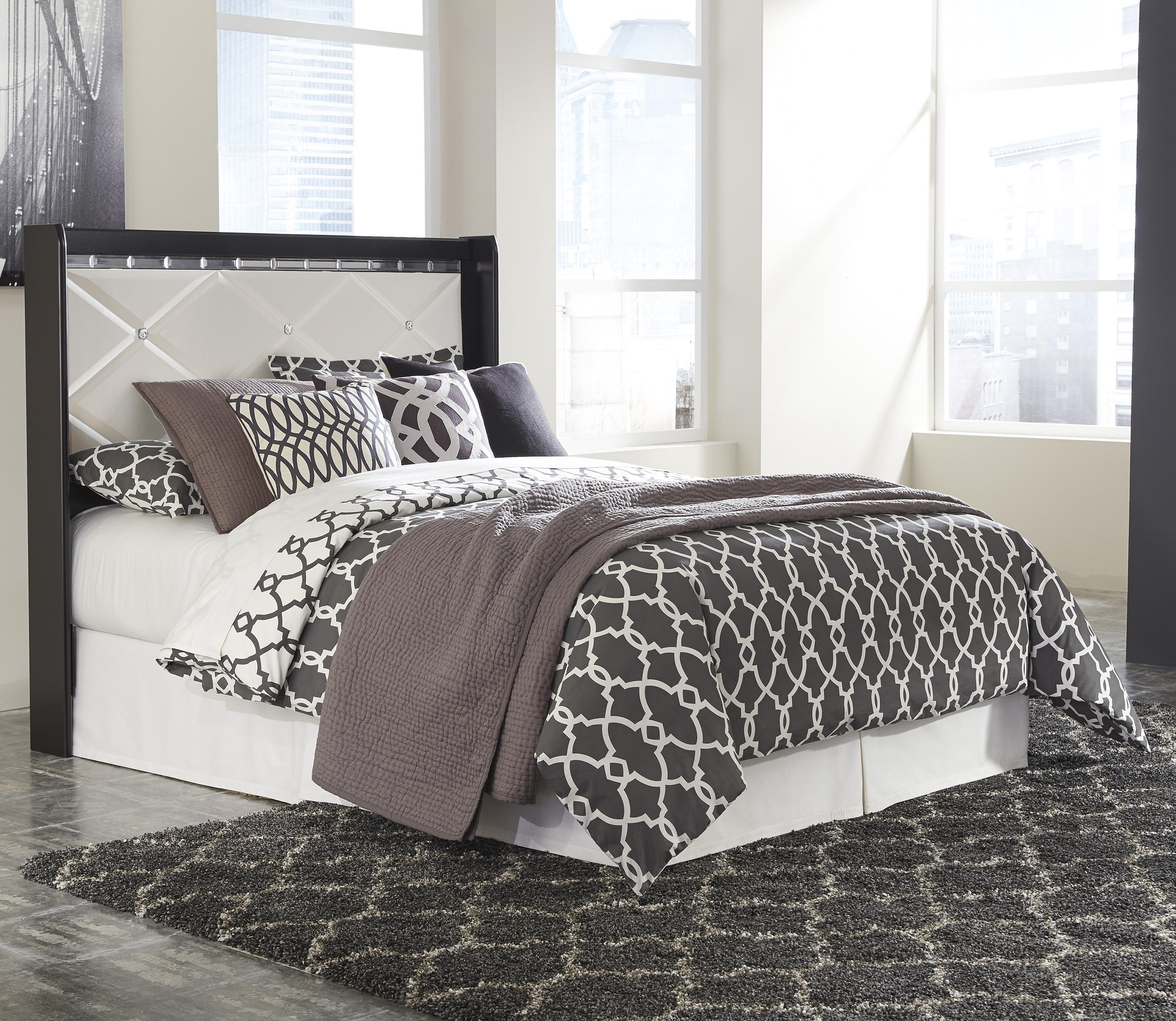 Signature design by ashley fancee queen panel headboard for Royal headboard