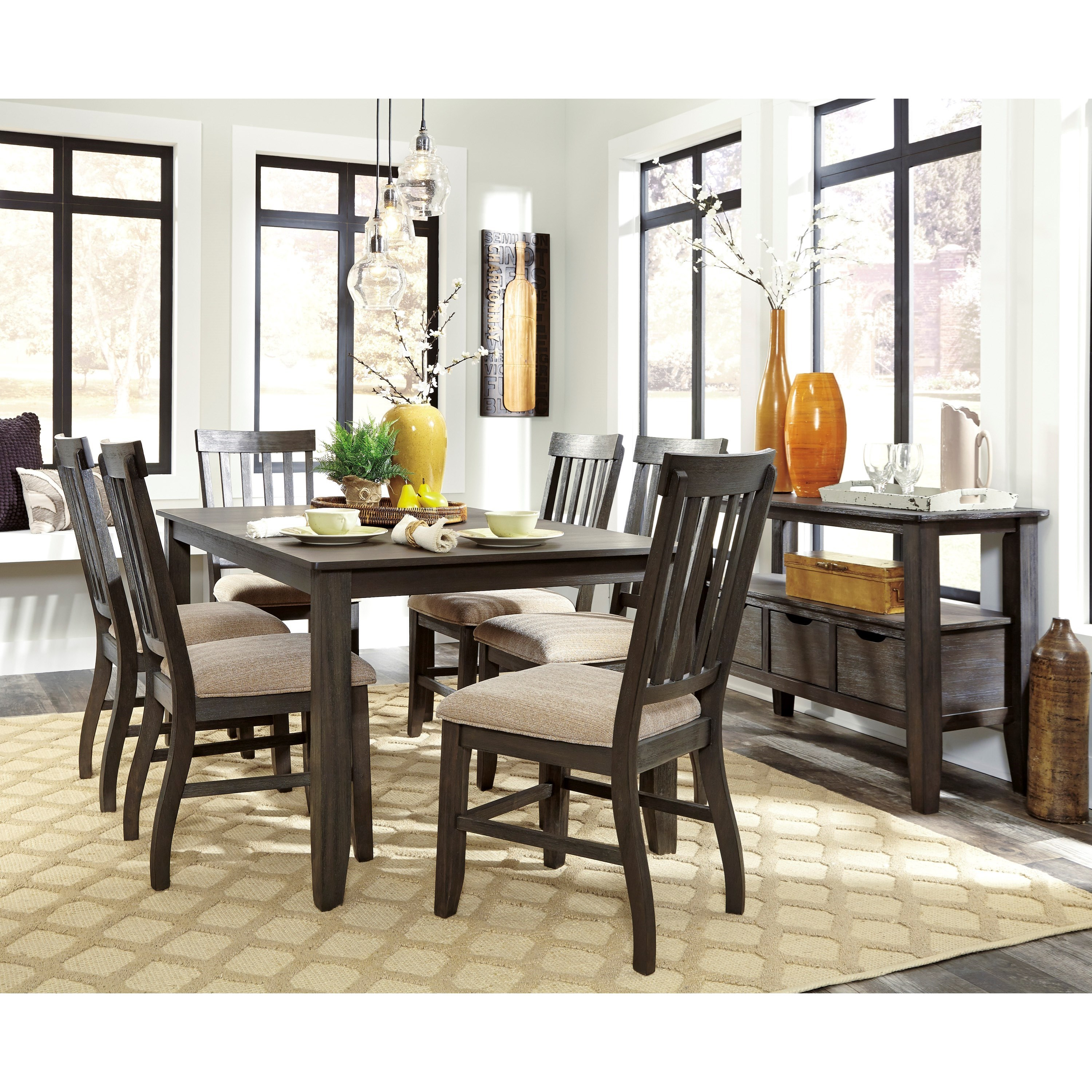 Signature design by ashley dresbar casual dining room for Casual dining room furniture