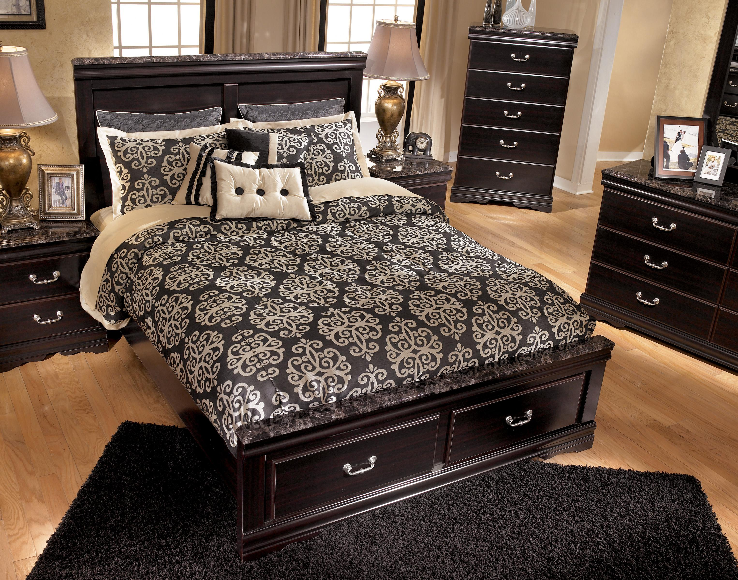 Signature design by ashley esmarelda 5 drawer chest with Ashley furniture marble top bedroom set