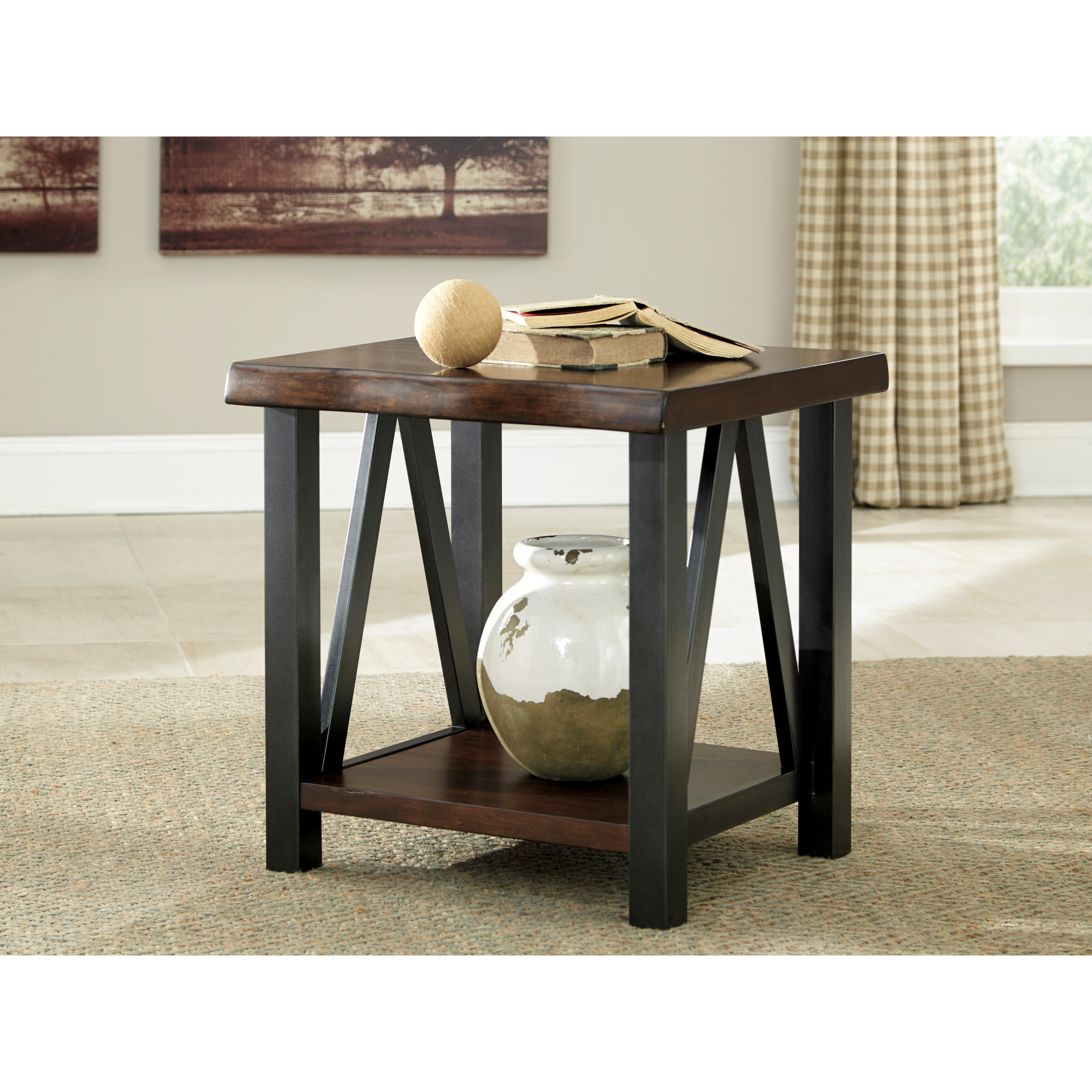 Ashley signature design esmarina t815 3 rectangular end for Bright colored side tables