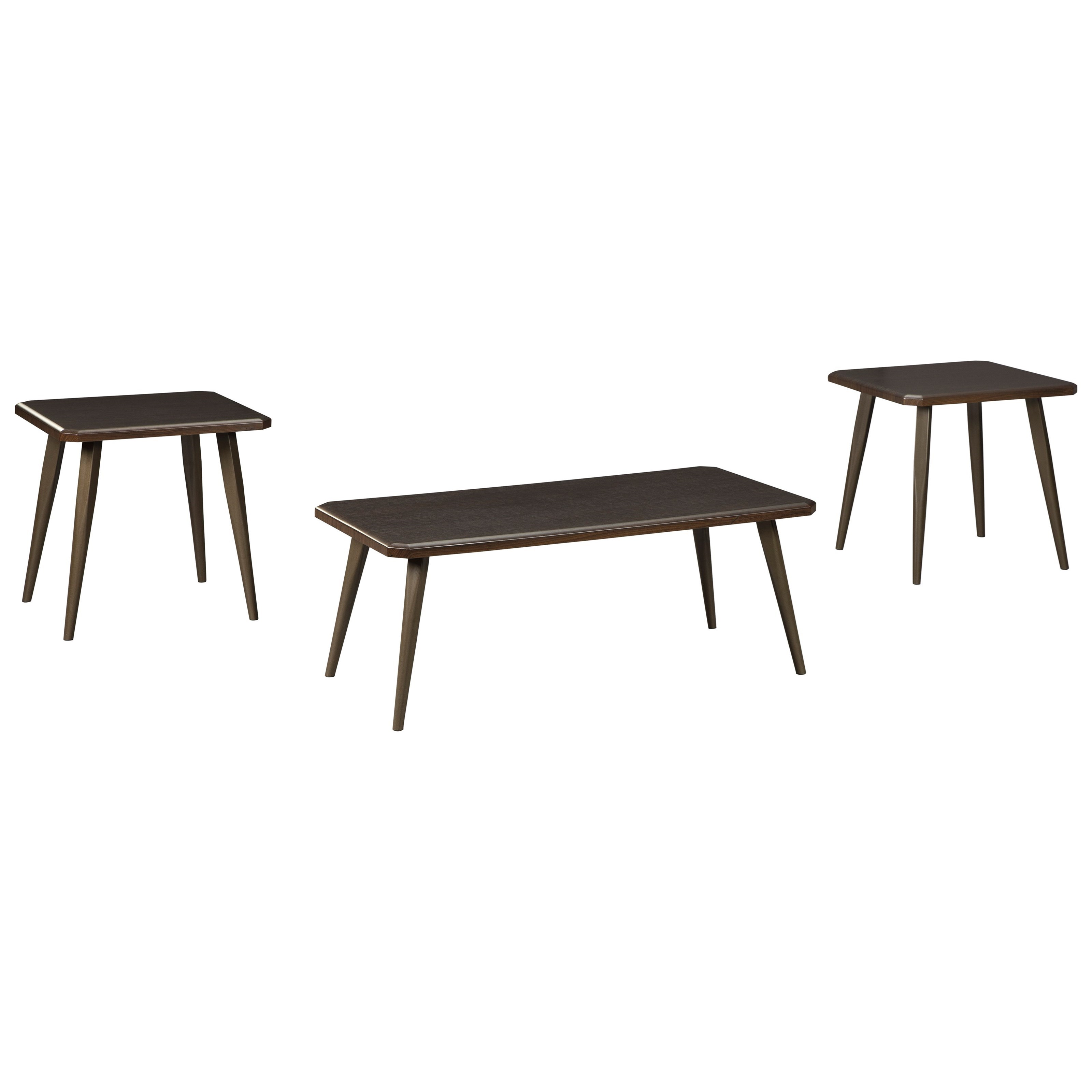 Signature design by ashley fazani contemporary 3 piece for Designer occasional tables