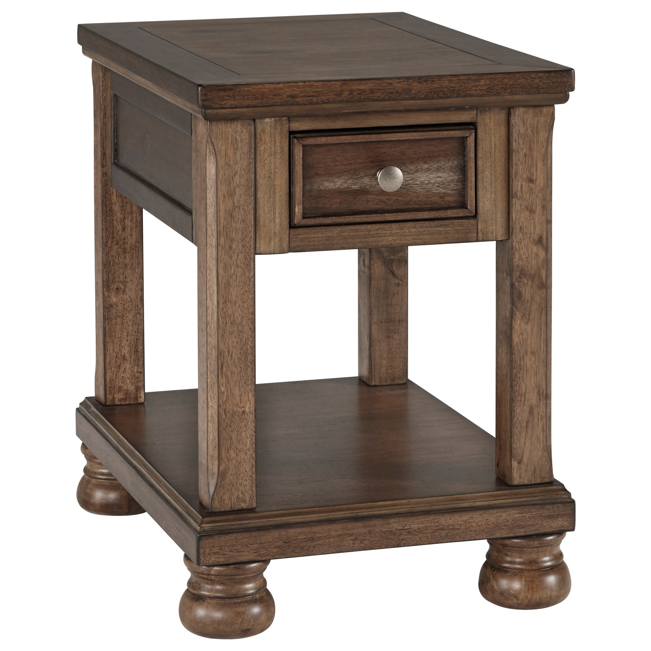signature design by ashley flynnter transitional chair side end table royal furniture end tables. Black Bedroom Furniture Sets. Home Design Ideas