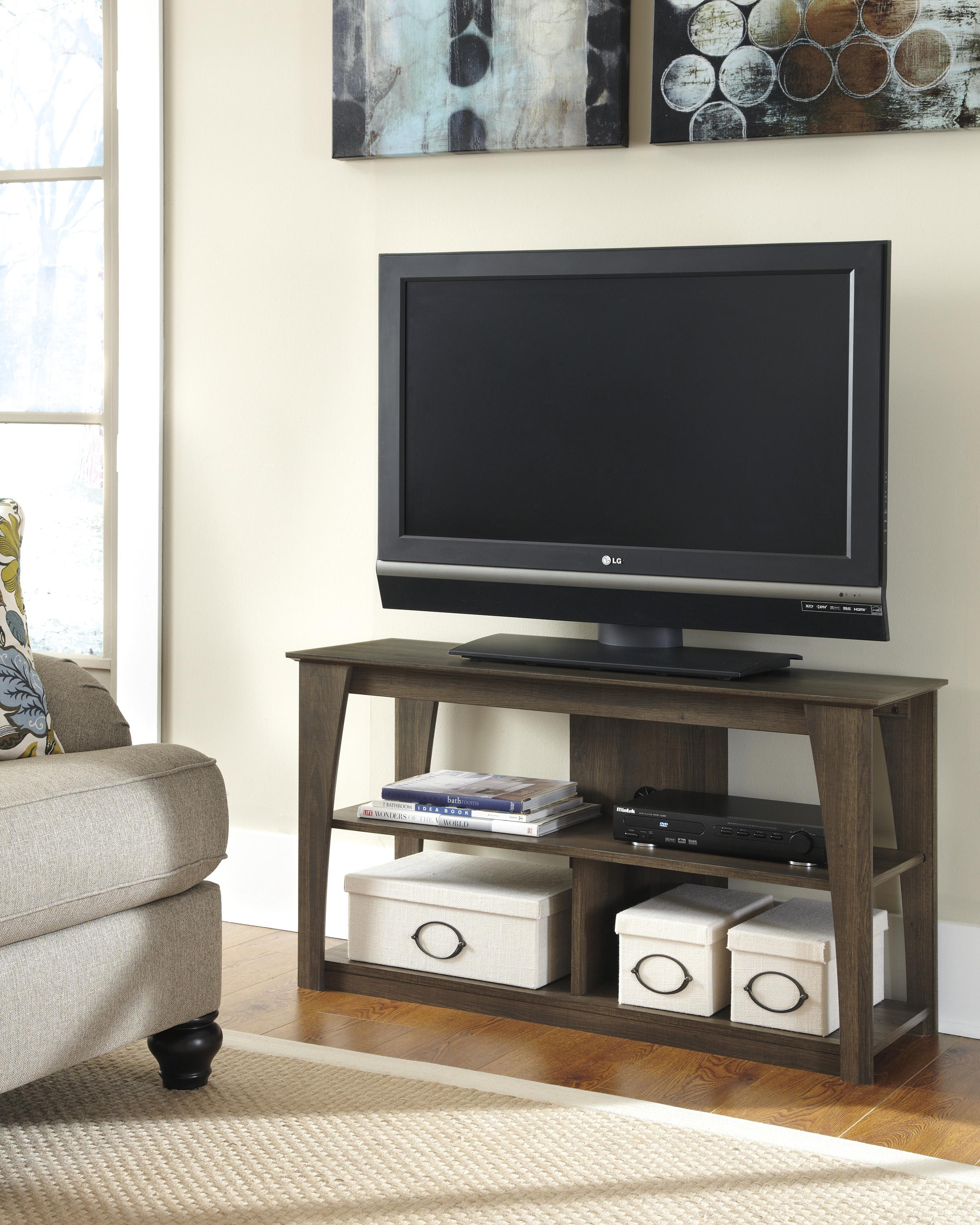 Signature design by ashley frantin rustic style television for Stylish tv stands furniture