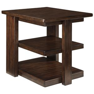 Signature Design By Ashley Furniture Carlyle Chair Side End Table With 2 Cup
